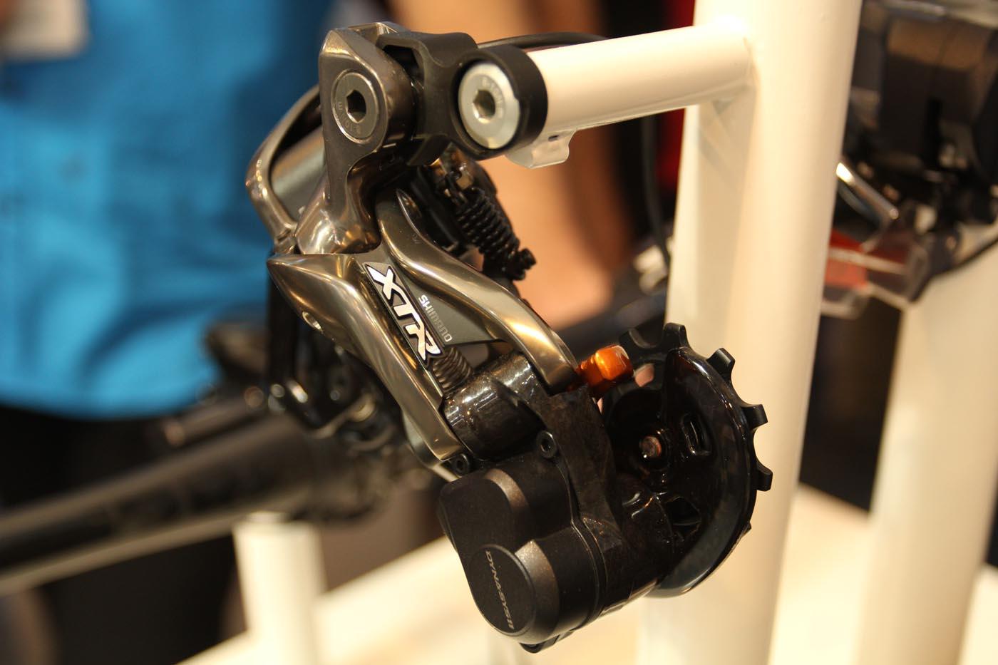 Die neue XTR DI2 Schaltung Shimano konnte auf der Eurobike ausprobiert werden.