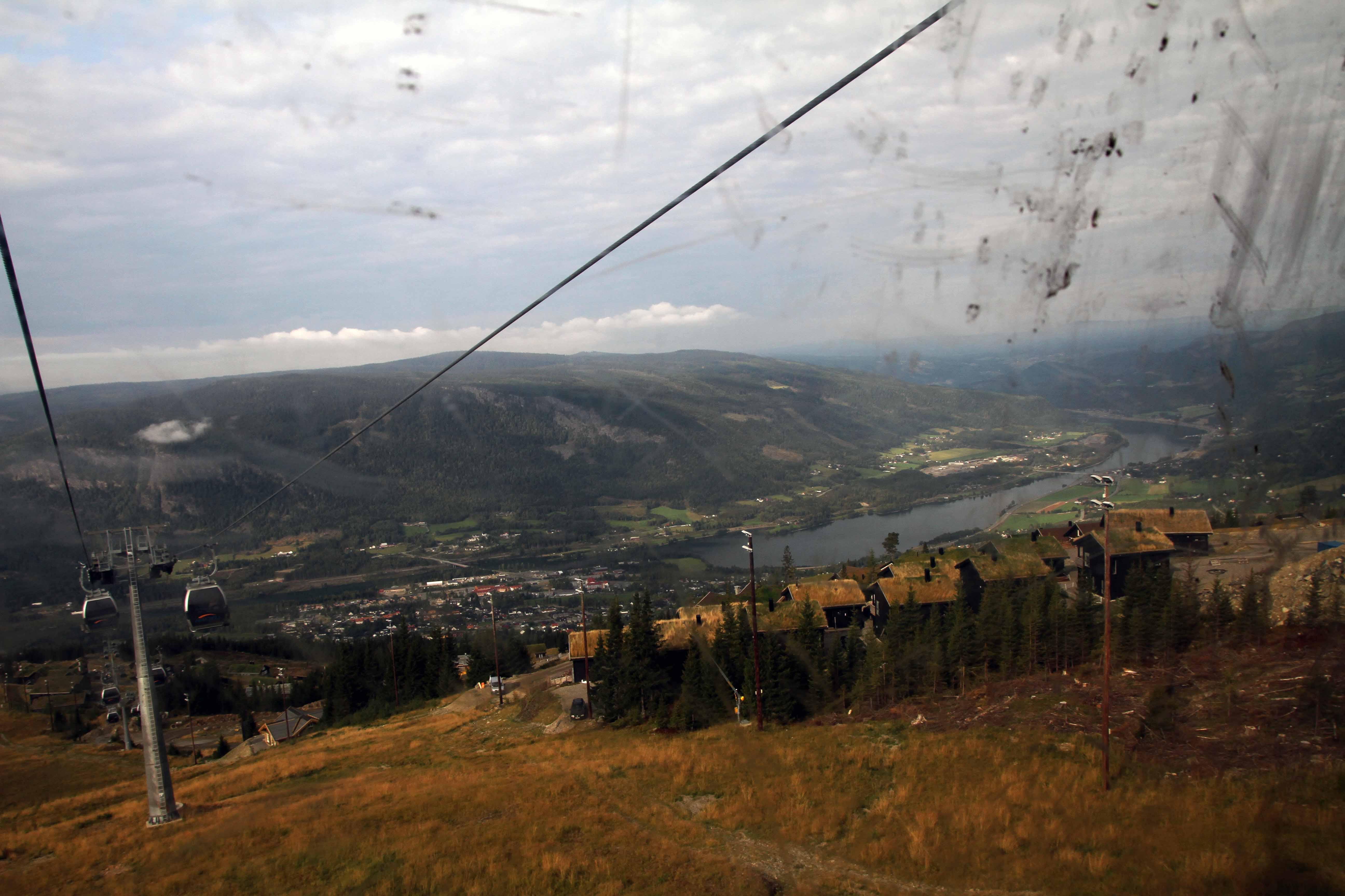 Die Aussicht aus dem Lift in Hafjell ist der absolute Wahnsinn.