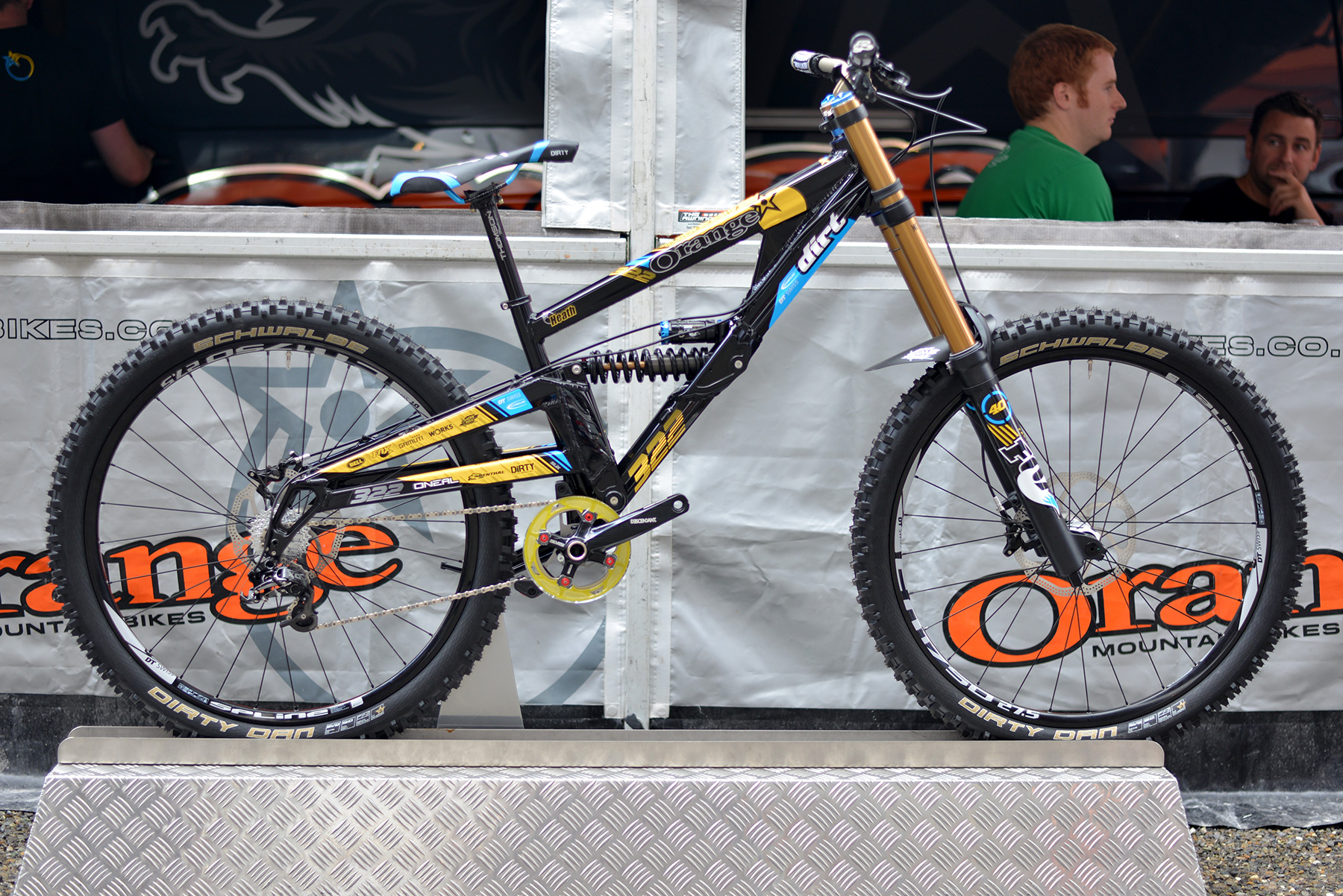 Prototyp des Orange DH Bikes.