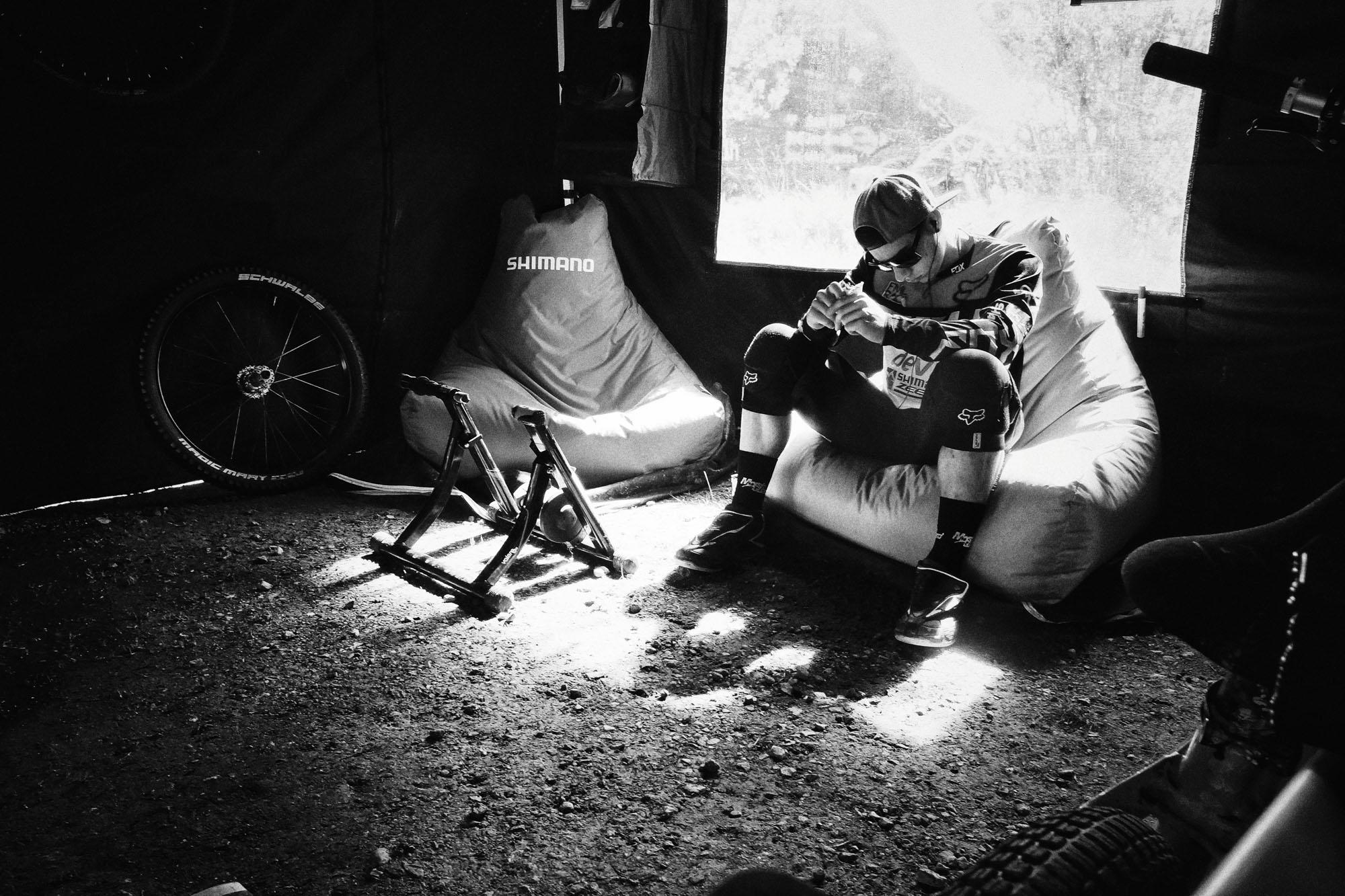 Neil kurz vor dem Rennen in Fort William 2014