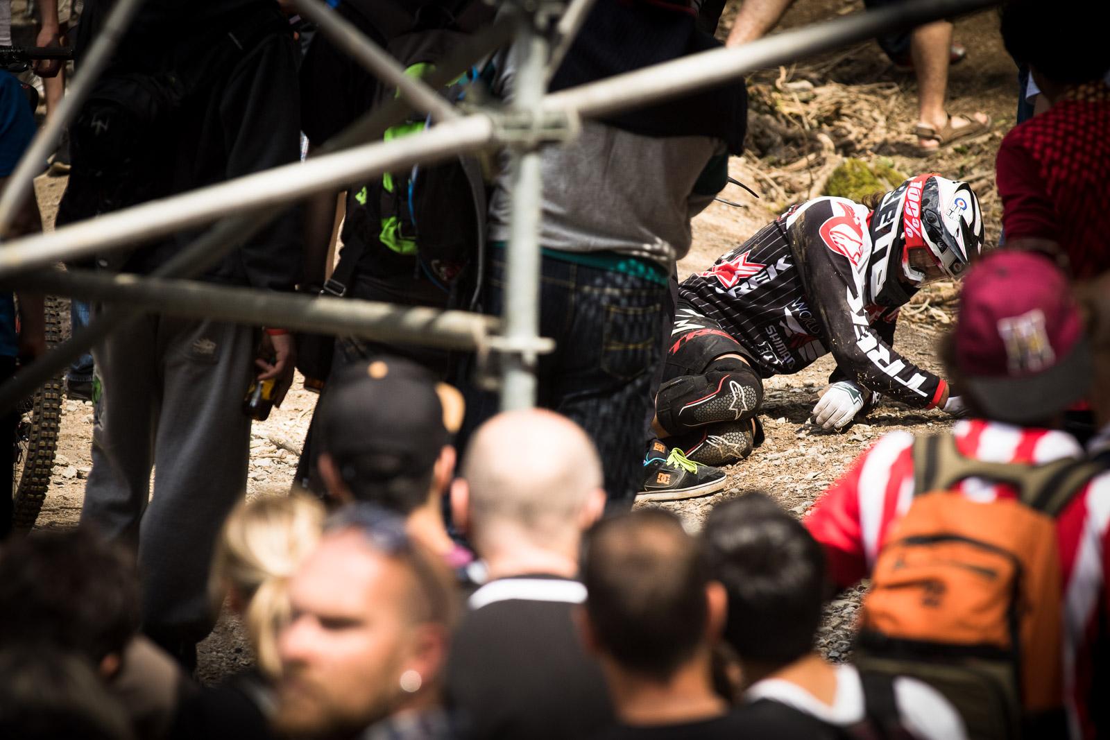 Ein Opfer von vielen auf der harten Strecke von Lourdes.