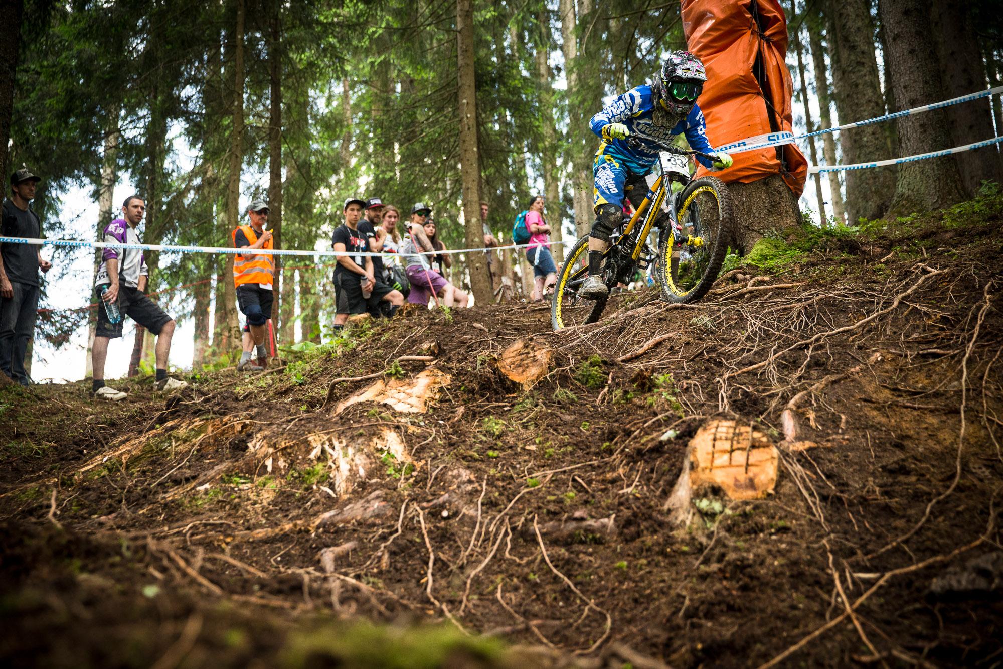 Der neue Waldabschnitt bietet jede Menge Auswahl an Lines. Joe Smith nimmt die obere Linie.