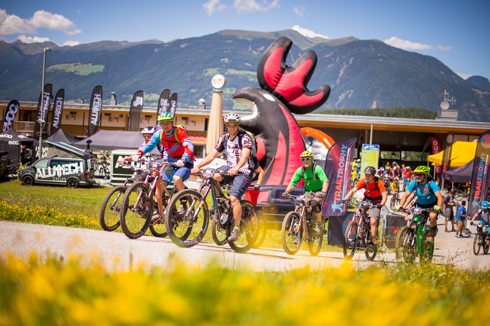 Start zur TT Kronplatz am Freitag Mittag. TRAILTROPHY/Wisthaler.com-Schwienbacher