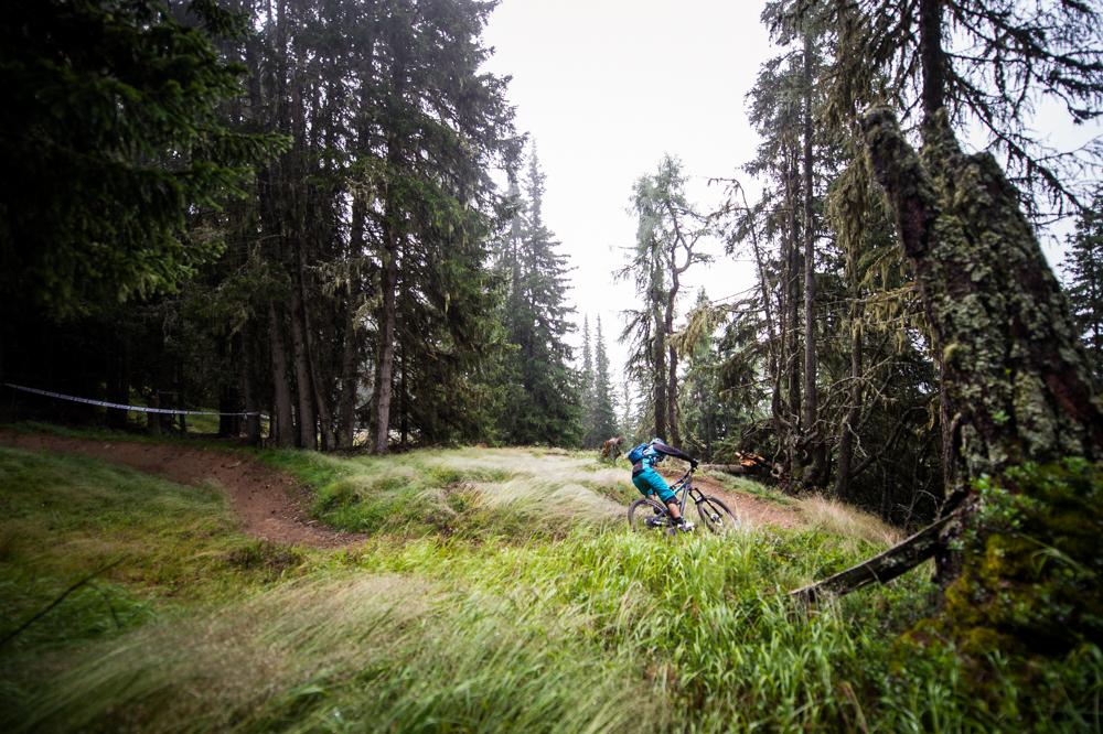 Traumhafte Kurven am Sonntag morgen in Stage 9. TRAILTROPHY/Wisthaler.com-Schwienbacher