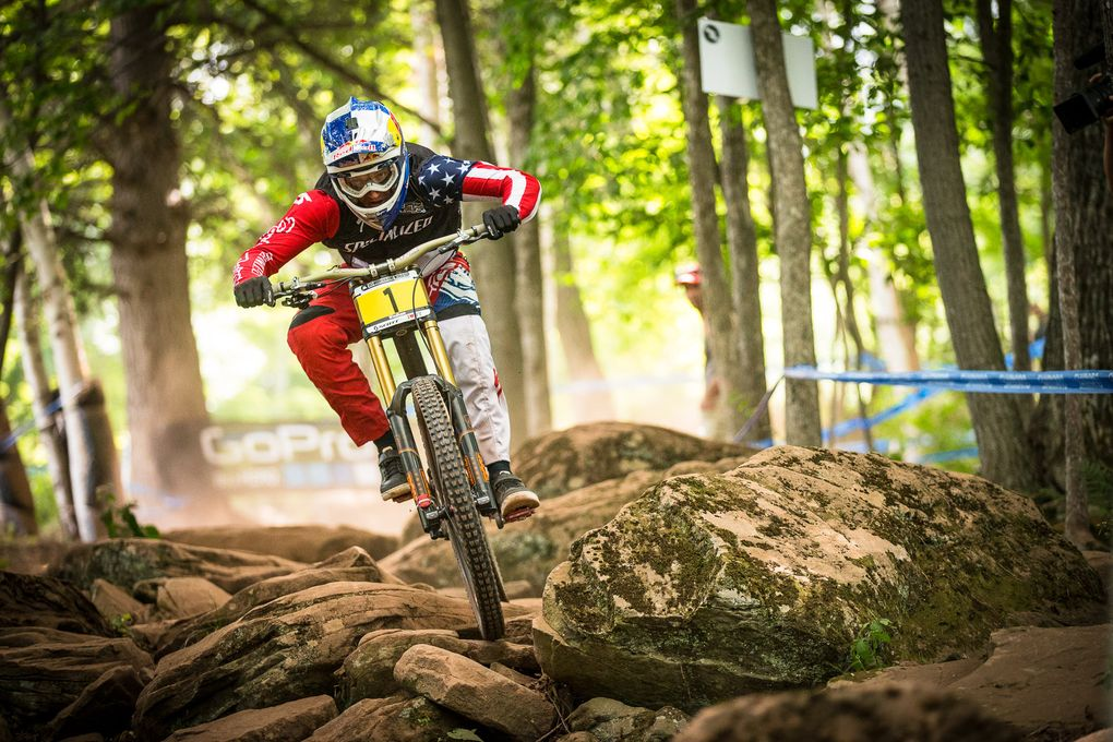 Aaron Gwin on fire
