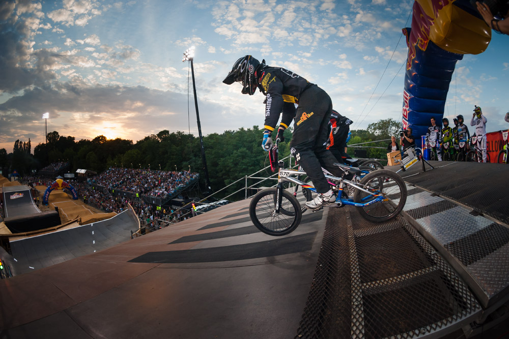 Luis Brethauer (GER) performs during the Red Bull R.Evolution at the Mellowpark in Berlin, Germany on August 17th 2013