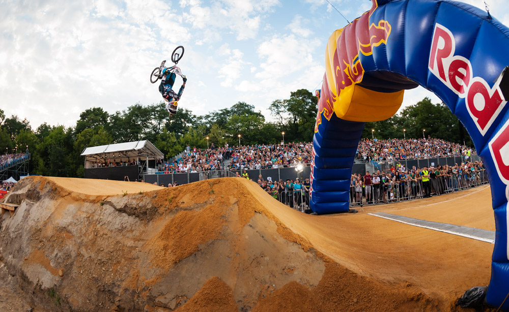 Chris Christensen (DEN) performs during the Red Bull R.Evolution at the Mellowpark in Berlin, Germany on August 17th 2013