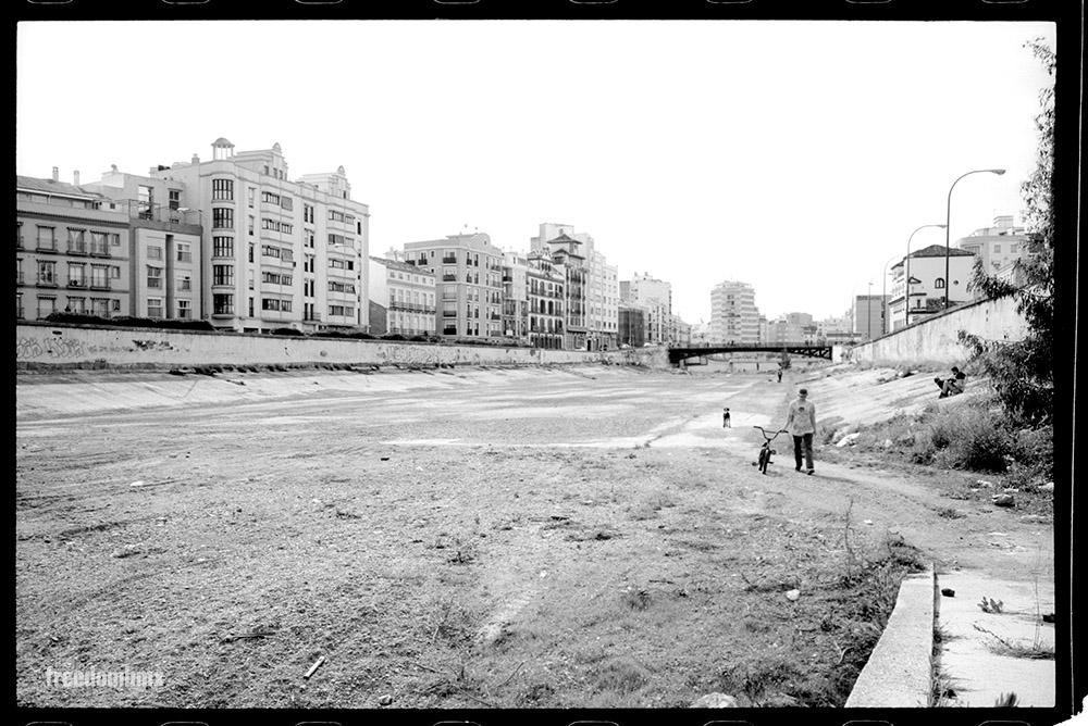 Mitten in der Stadt findet sich ein ausgetrocknetes Flußbett, das von Hippies, Hunden und sehr bösartigen Skatern bewohnt wird.