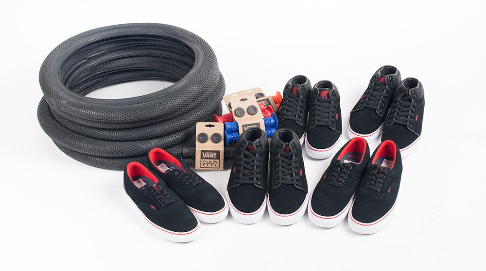 5 x 1 CARE-Paket bestehend aus Reifen, Schuhen und Griffen von Cult und Vans zu gewinnen