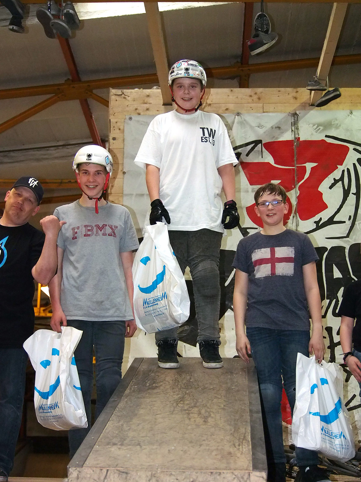 Die Gewinner der Beginnerklasse (bis 10 Jahre) beim 1. Stopp des New Kids Generation Nachwuchscontests in Braunschweig