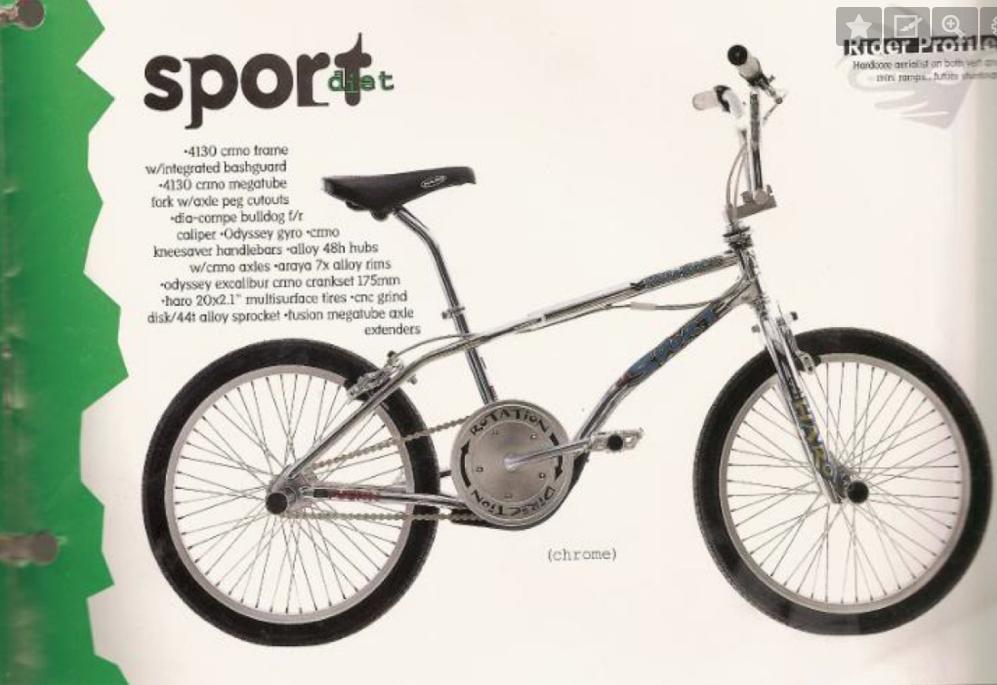 1991 legt man bei Haro Bikes dann noch eine Bashguard-Version des Sport-Rahmens nach.