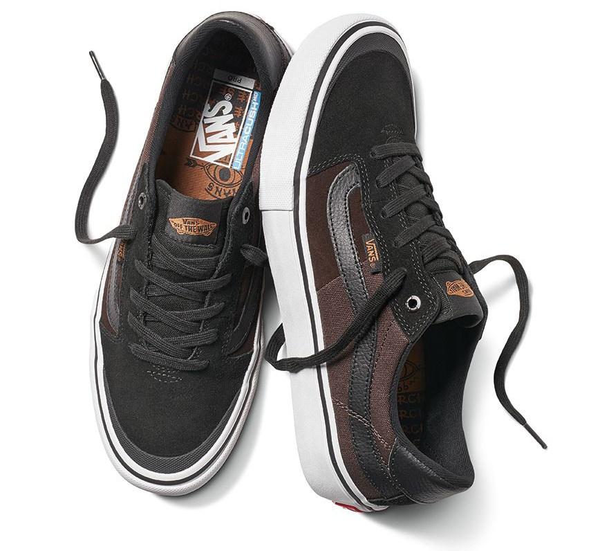 Dakota Roche war es wichtig, dass sein Schuh möglichst gut hält, deshalb wurden auf der Oberseite Wildleder und reißfester Leinen verarbeitet