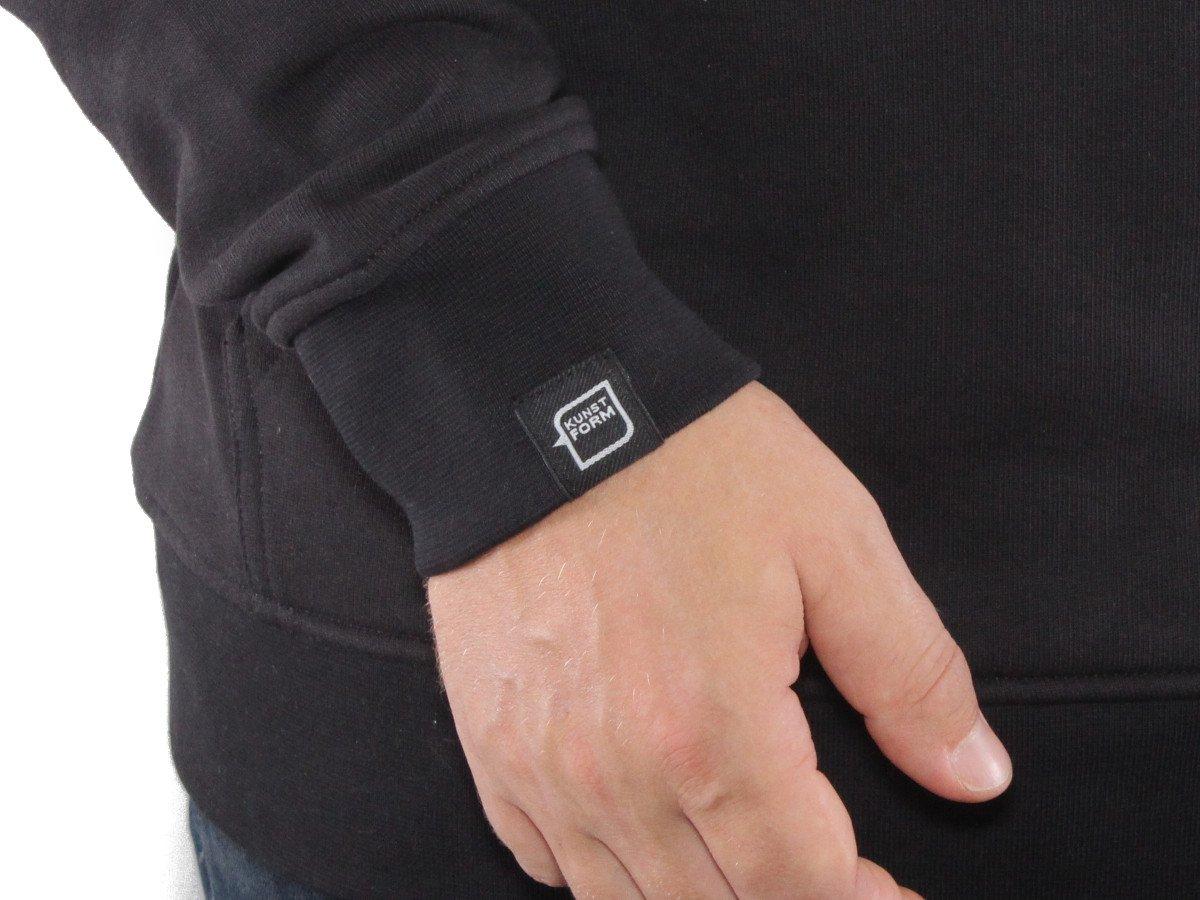 kunstform BMX Team Hoody in schwarz mit eingenähtem Label