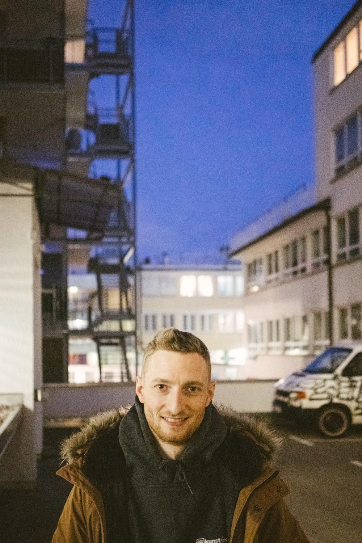 Trotz fehlenden Transitions war Ricky Felchner aus Dunkeldeutschland angereist