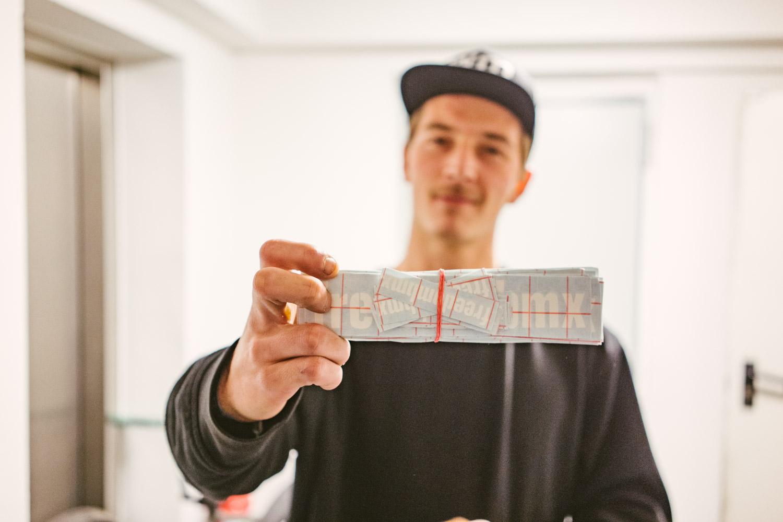 Dank Jannik Pertz konnte sich jedermann wieder freedombmx-Sticker einpacken!