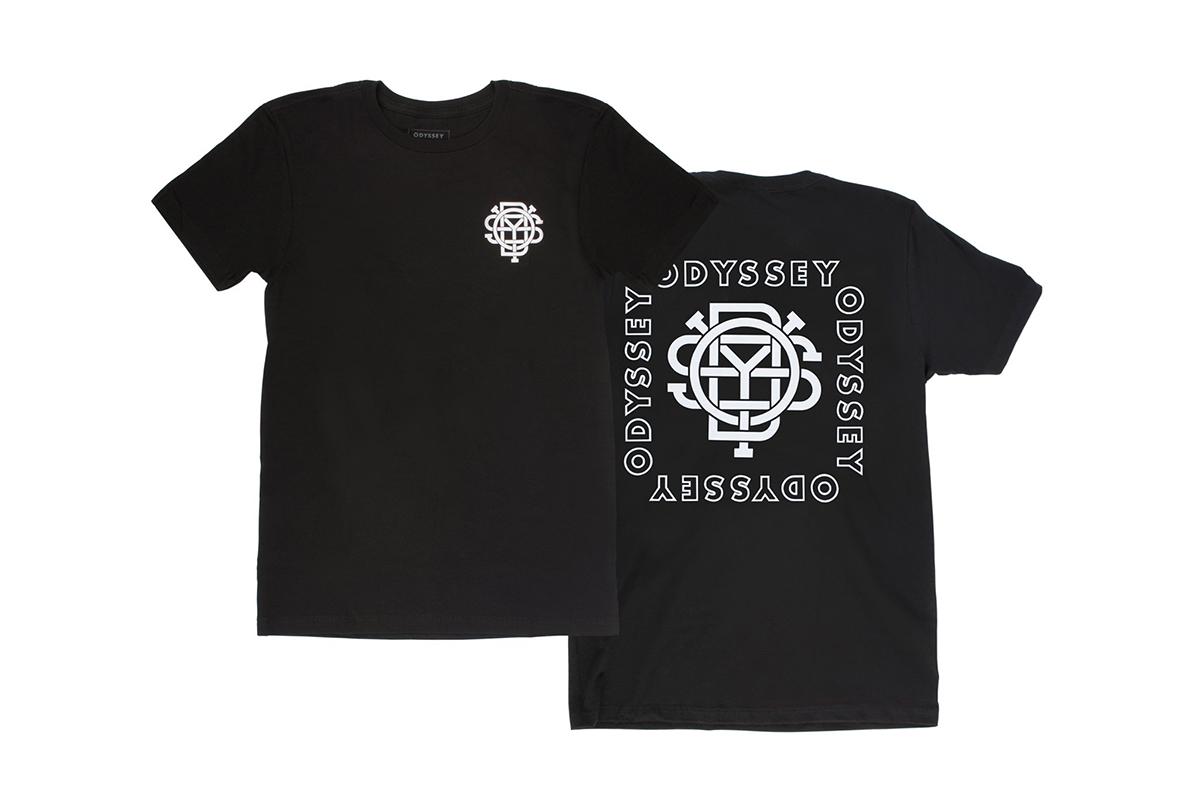 Das Odyssey ''Quad''-Shirt in schwarz