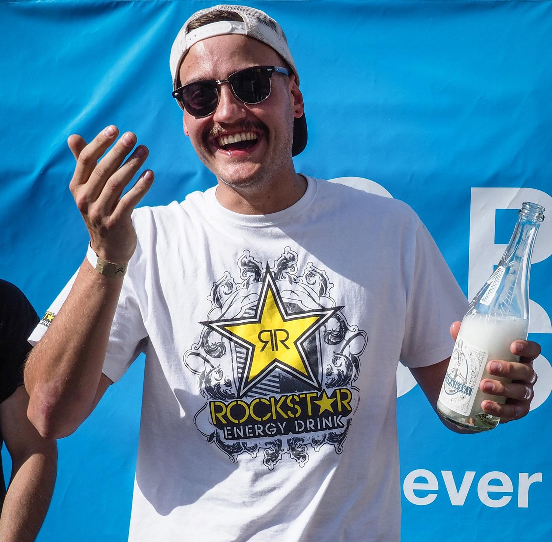 Chris Halbritter genießt seinen verdienten Sieg