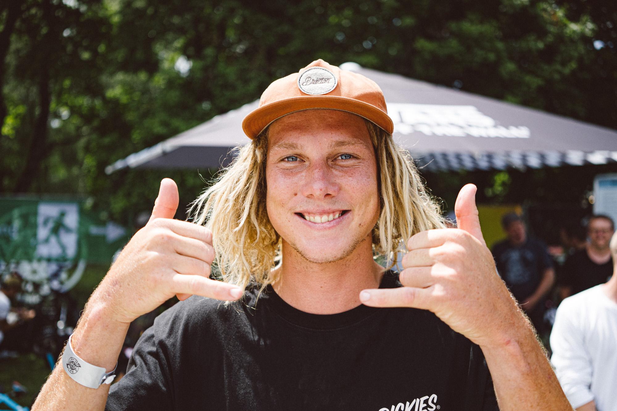 Boyd Hilder war Teil der riesigen Reisegruppe aus Australien, die extra für den VANS BMX Pro Cup und die BMX Worlds in Köln nach Deutschland gekommen war; Foto: Merlin Czarnulla