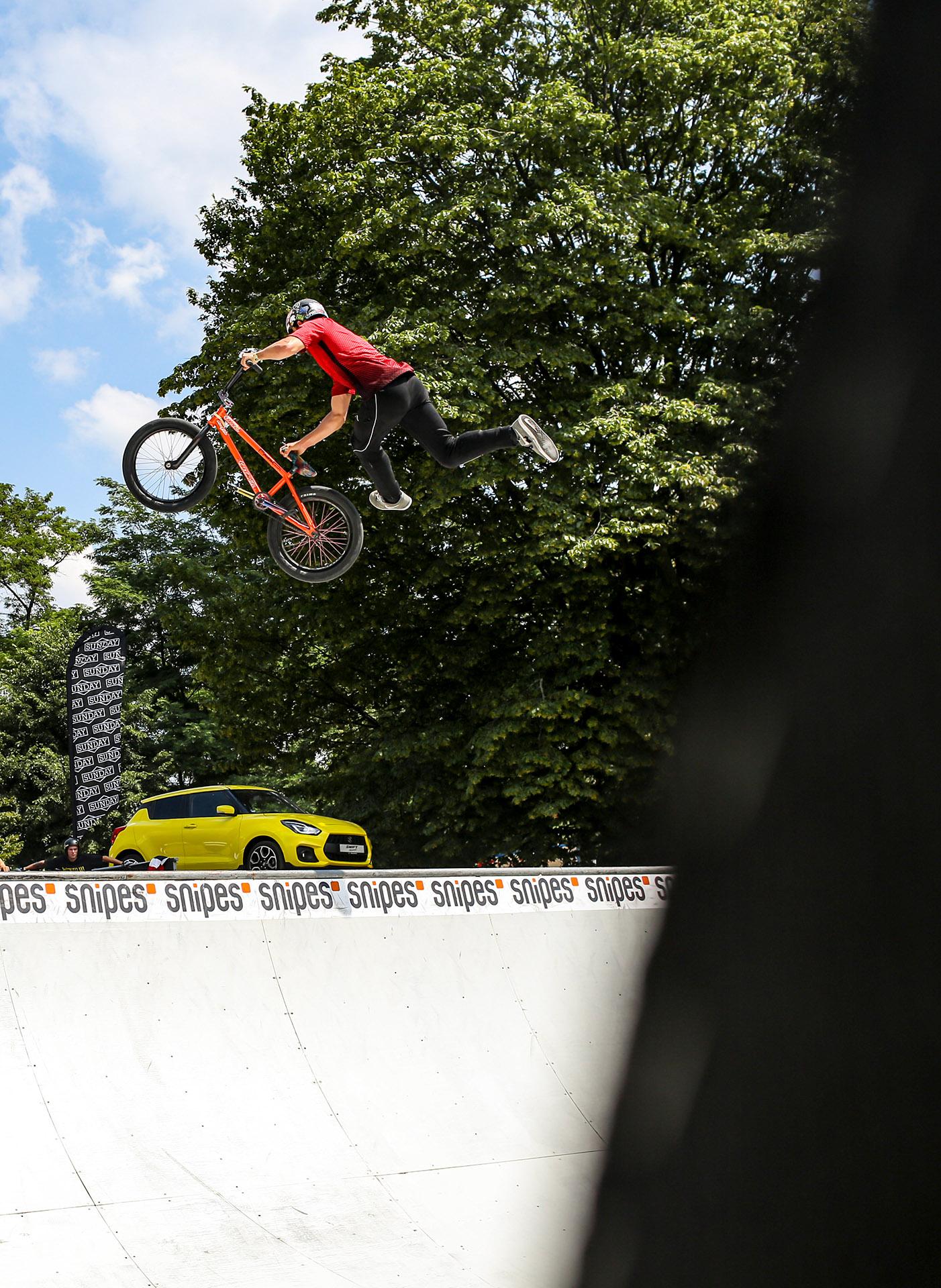 Sener Altintas ist seit einiger Zeit auf so ziemlich jedem Contest in Deutschland anzutreffen und war natürlich auch bei den BMX Worlds in Köln dabei