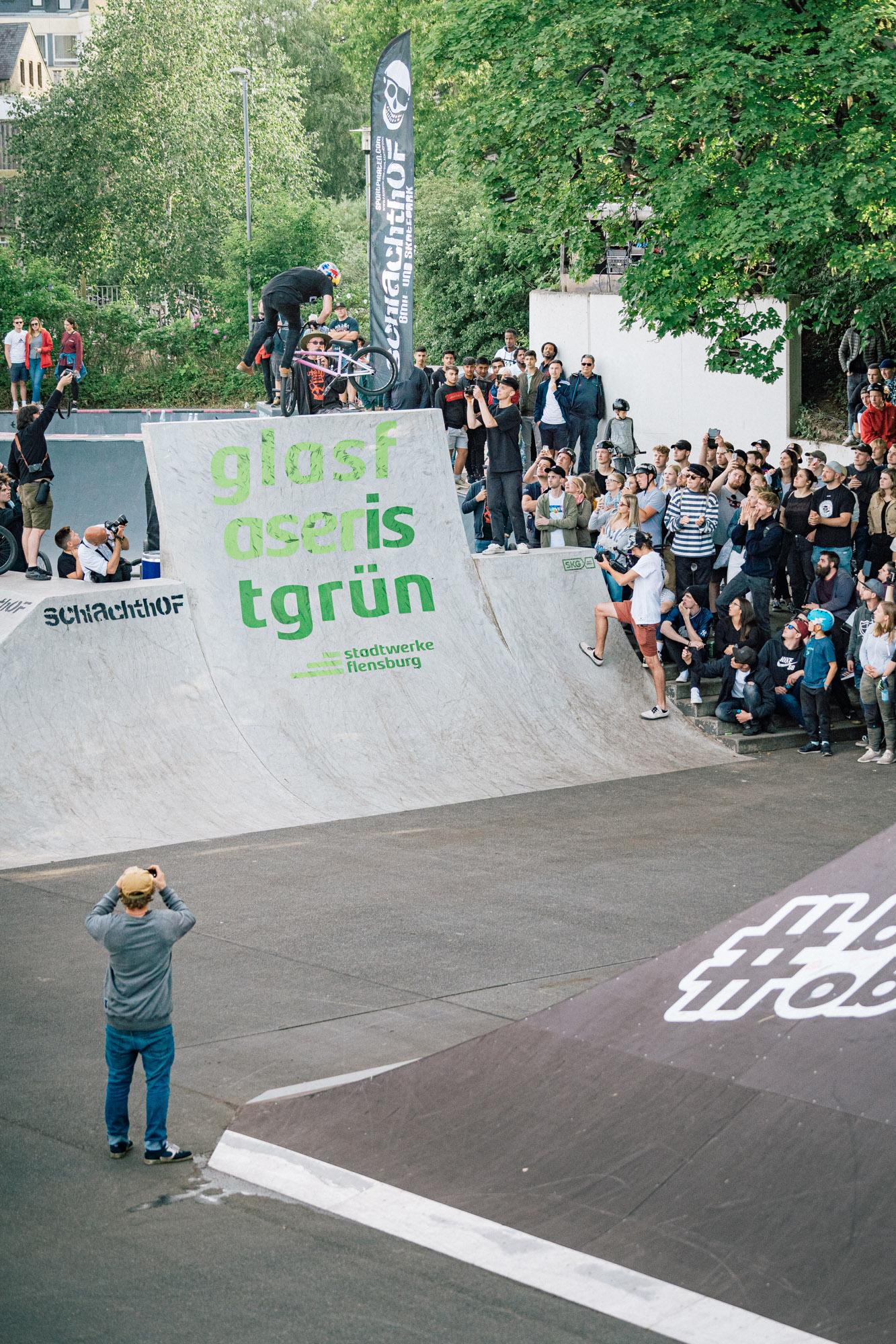 Daniel Wejdemeier, Footjam Whip mit wenig Platz für Fehler