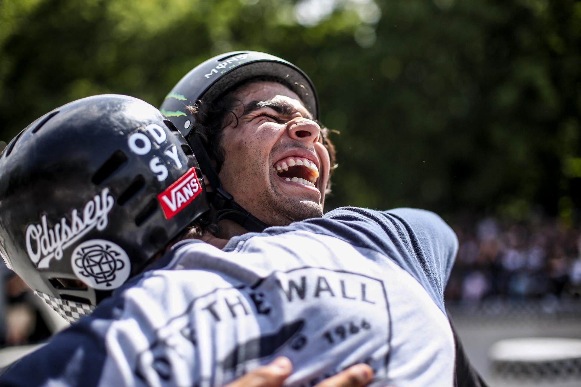 Der Best-Trick-Gewinner Kevin Peraza in der Welt der Freude; Foto: Andy Grüber