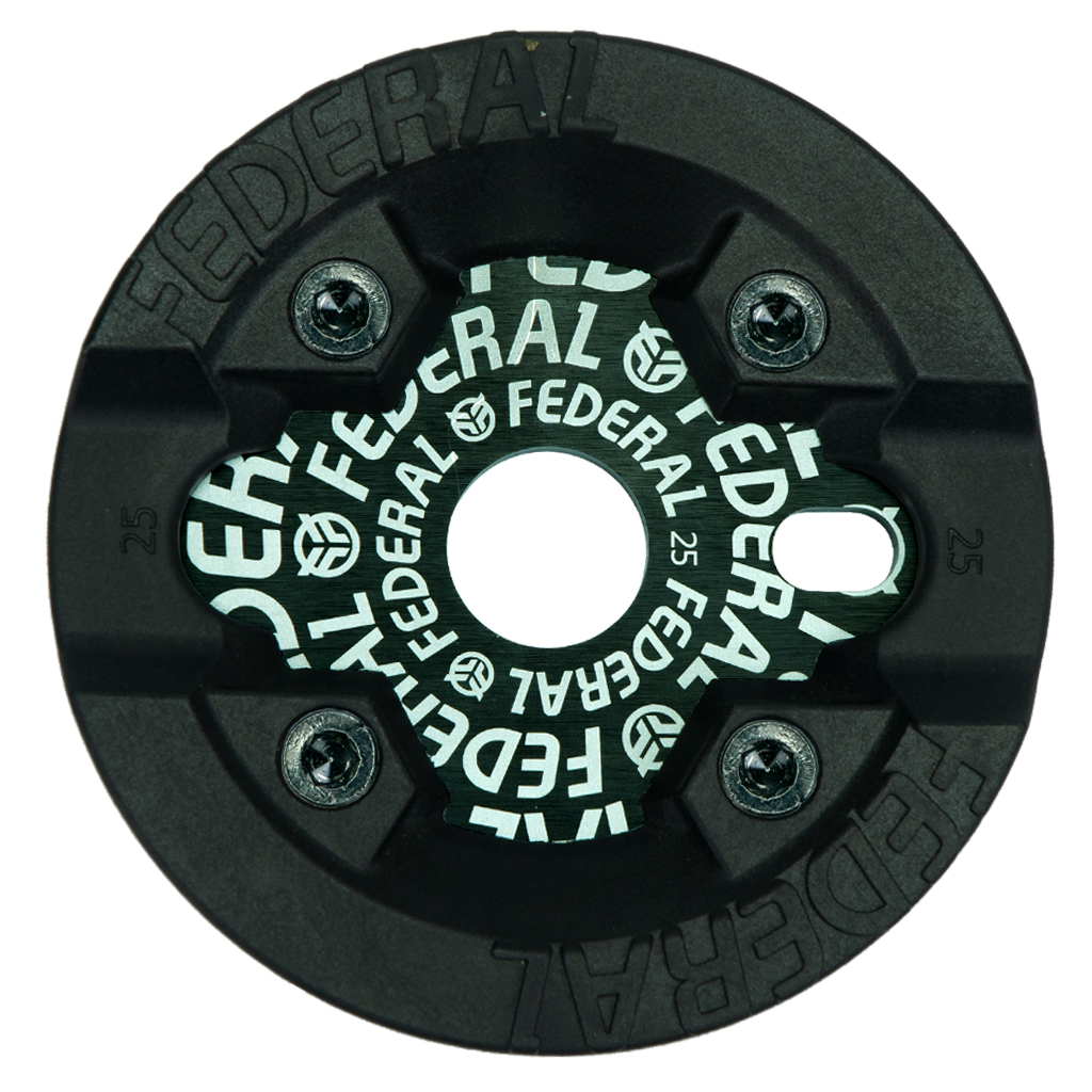 Federal Bikes Solid Logo Sprocket mit schraubbarem Kunststoff-Guard (erhältlich in 25 und 28 Zähne)