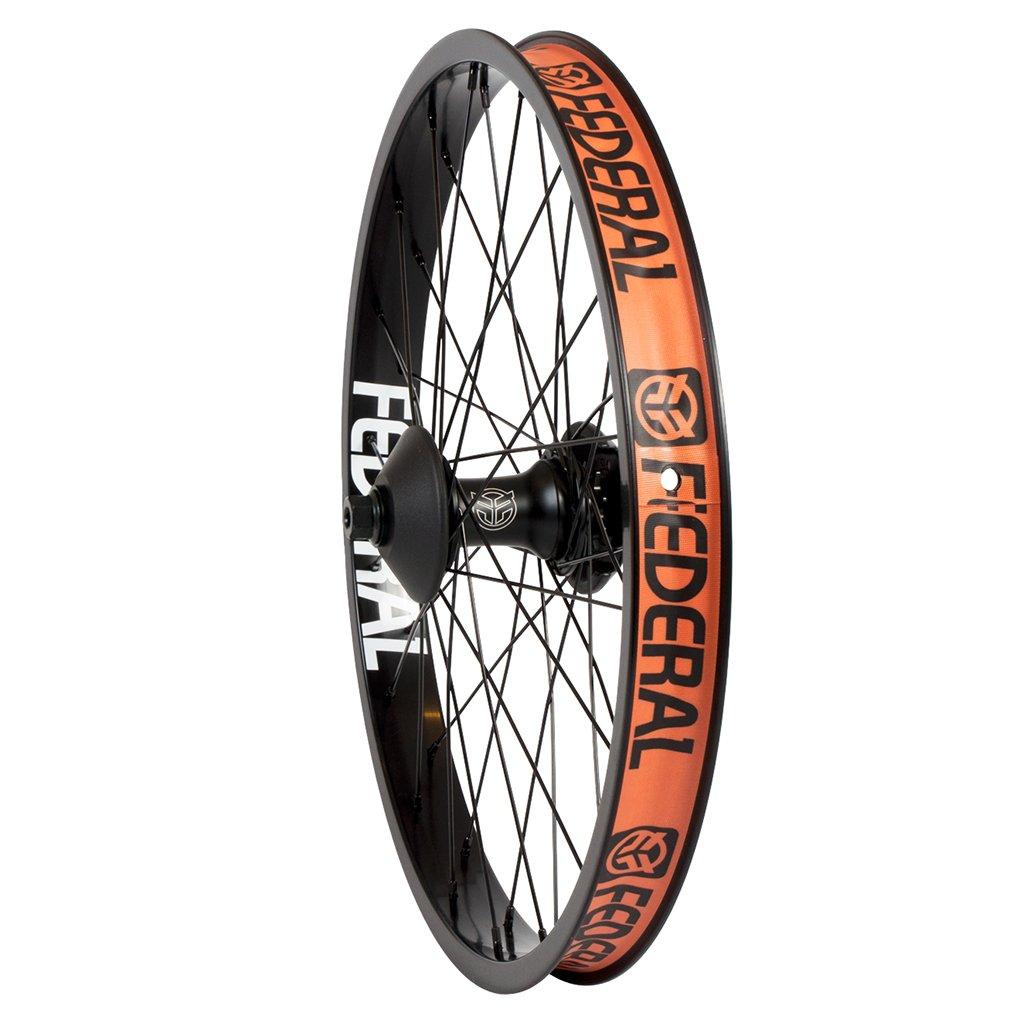 Federal Bikes Stance Female Cassette Wheel in schwarz (extra breite Felge für Reifen ab 2,3'' aufwärts, Hubguards im Lieferumfang inbegriffen)