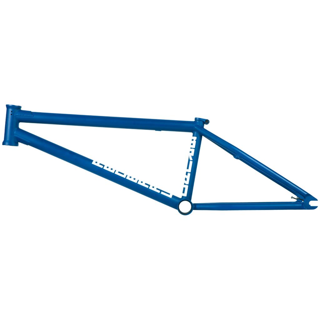 Federal Bikes Bruno Hoffmann 2020 Signature Frame mit überarbeiteter Geometrie, neuen Dropouts und Graphics by Rich Forne (Oberrohrlängen: 20,85, 21 oder 21,25'' Steuerkopfwinkel: 75.5° Sattelrohrwinkel: 71° Kettenstrebenlänge: 13,6'' (slammed) Tretlagerhöhe: 11,8'' Stand Over: 9'' Farben: Gloss White oder Matt Blue Gewicht: 2,52 kg)