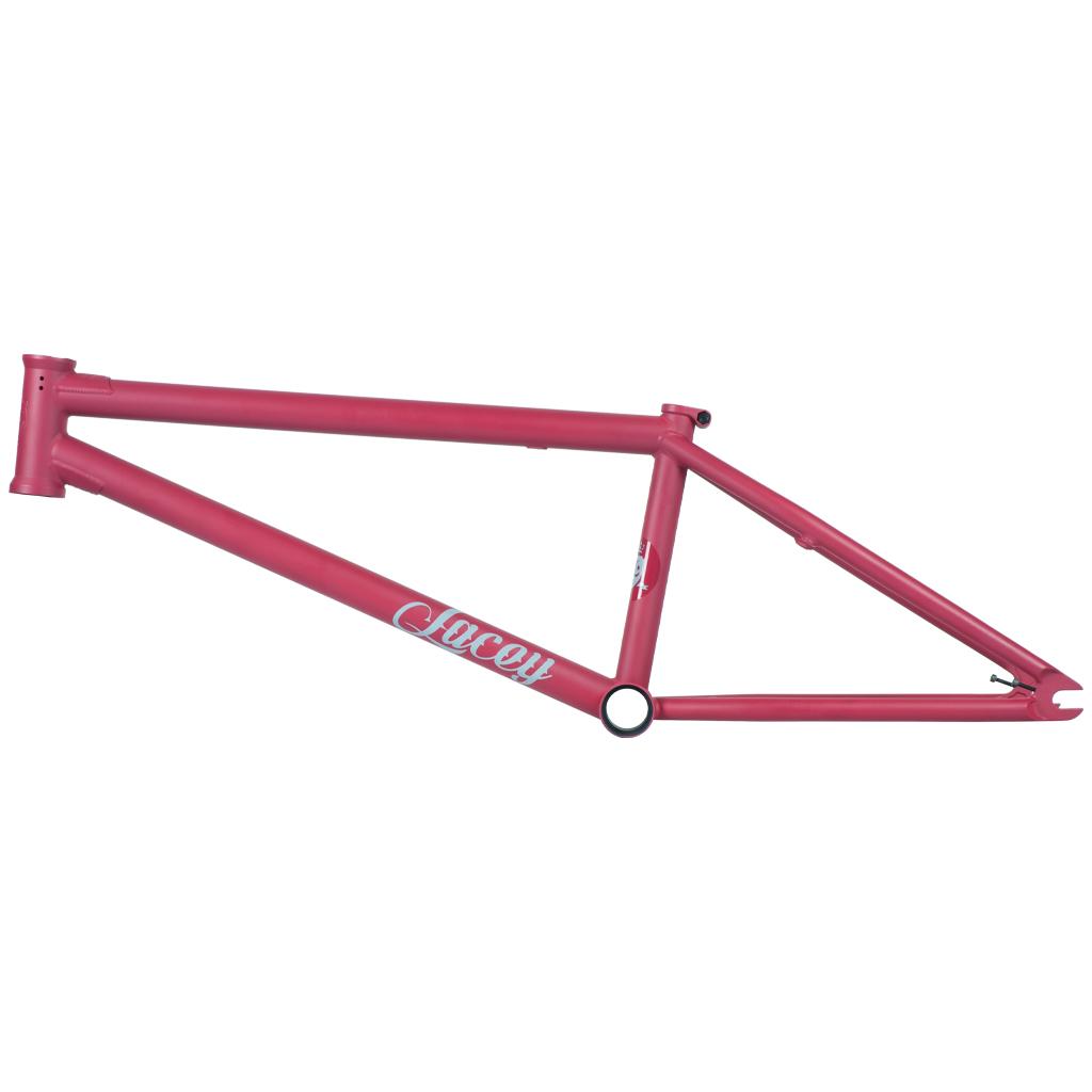 Eine Frischzellenkur (neue Ausfallenden, Graphics, Logoplatzierung) gab es auch für den Federal Bikes Dan Lacey 2020 Signature Frame (Oberrohrlängen: 20,5, 20,75 oder 21'' Steuerkopfwinkel: 75,5° Sattelrohrwinkel: 71° Kettenstrebenlänge: 13,75'' (slammed) Tretlagerhöhe: 11,8'' Stand Over: 9'' Farben: Matt Schwarz oder Matt Cranberry Gewicht: 2,52 kg)