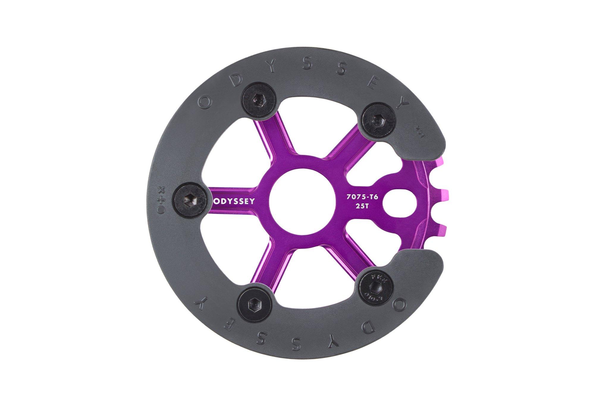 NEU! Odyssey BMX Utility Pro Sprocket in Anodized Purple mit schraubbaren Guard aus Kunststoff (25T)