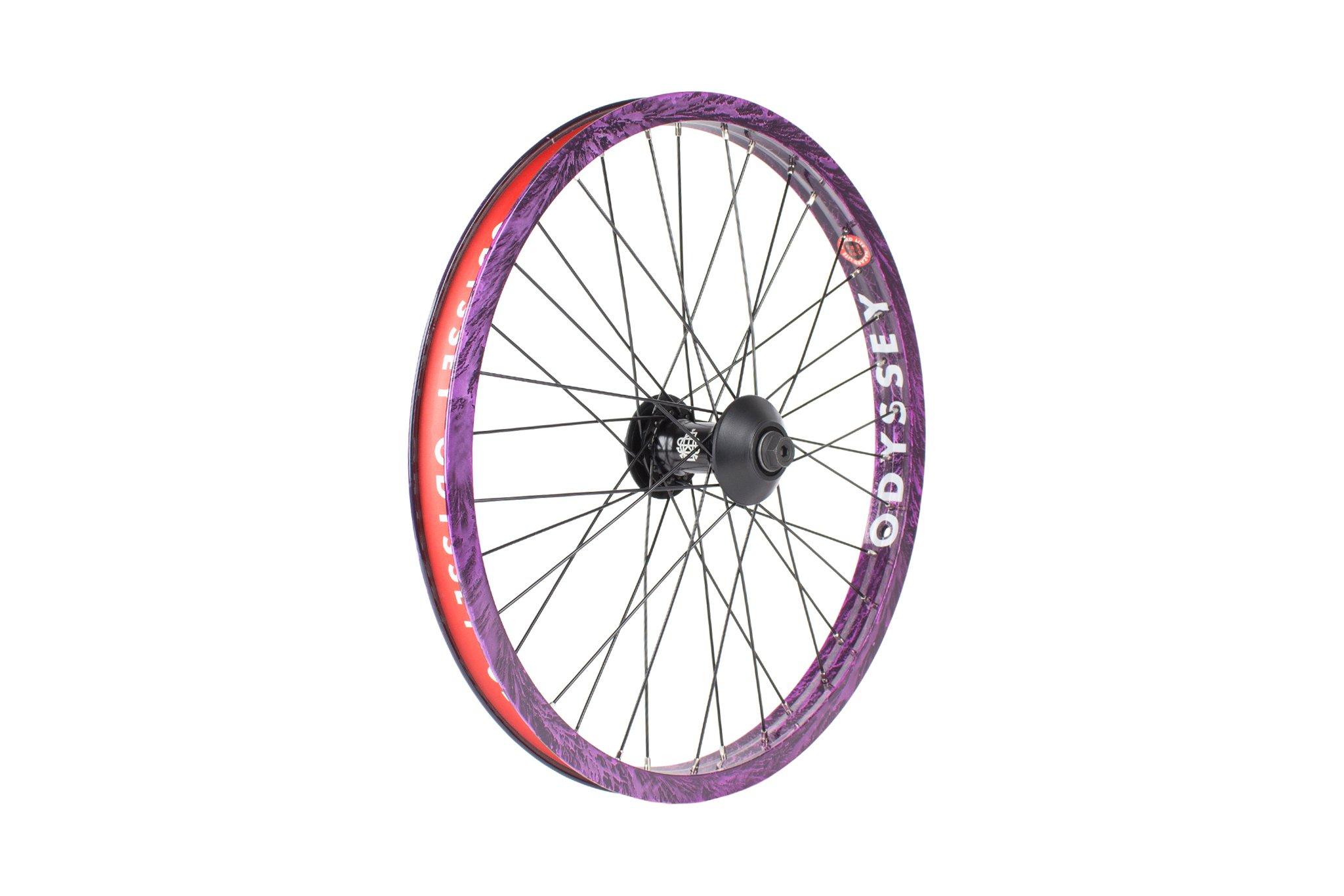 Odyssey BMX Hazard Lite Front Wheel im Limited Edition Purple Rain Colorway