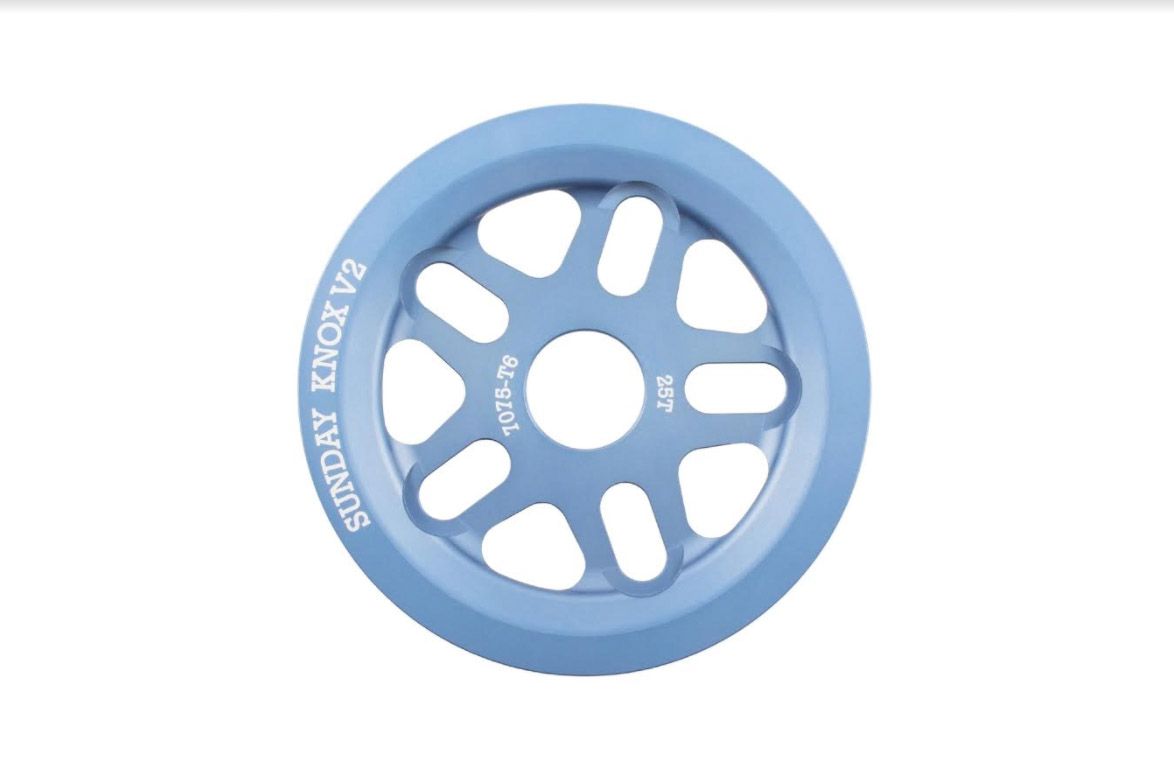 Sunday Bikes Knox Guard Sprocket (25T) in Frost Blue