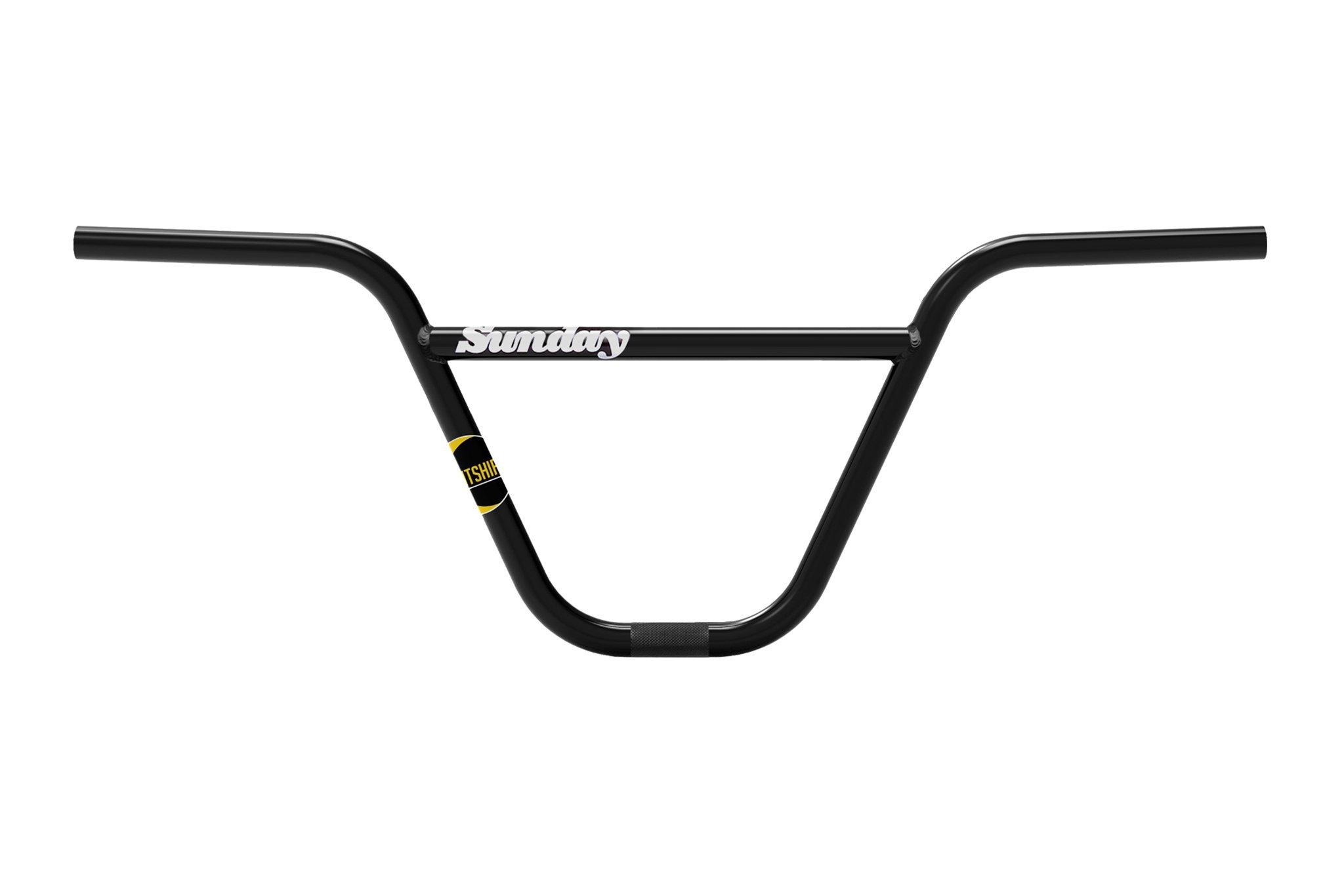 Sunday Bikes Nighshift Bar in schwarz; Rise: 9.625'' oder 10'' Breite: 30'' Backsweep: 11° Upsweep: 2°