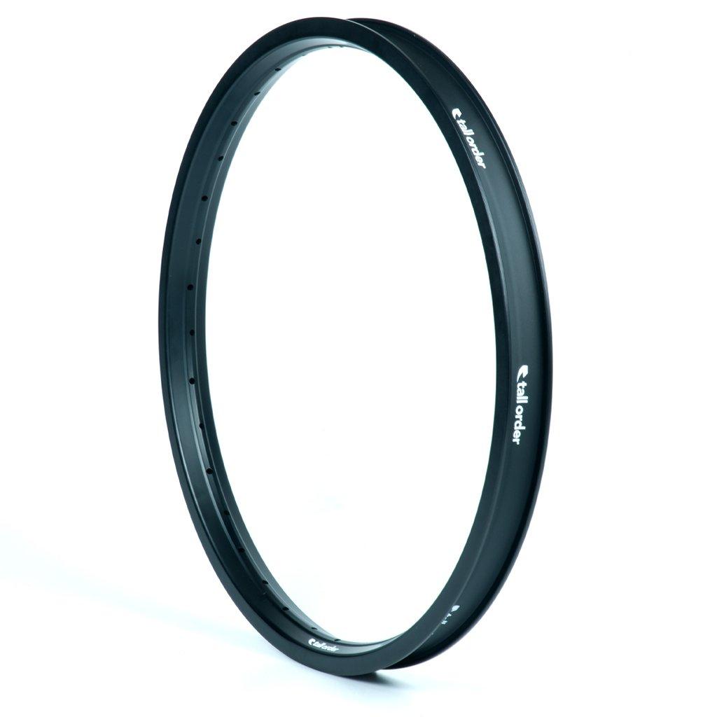 Tall Order Air Rim Felge Material: 6066-T6 Aluminium (dreifache Hohlkammer) | Extras: Zentrale Speichenanordung für optimalen Speichenwinkel, Innen gebohrt, um das Gewicht zu reduzieren, V-förmiges inneres Felgenbett für eine einfachere Montage oder Demontage der Reifen | Felgenband: im Lieferumfang inbegriffen |Farbe: schwarz |Gewicht: 540 g