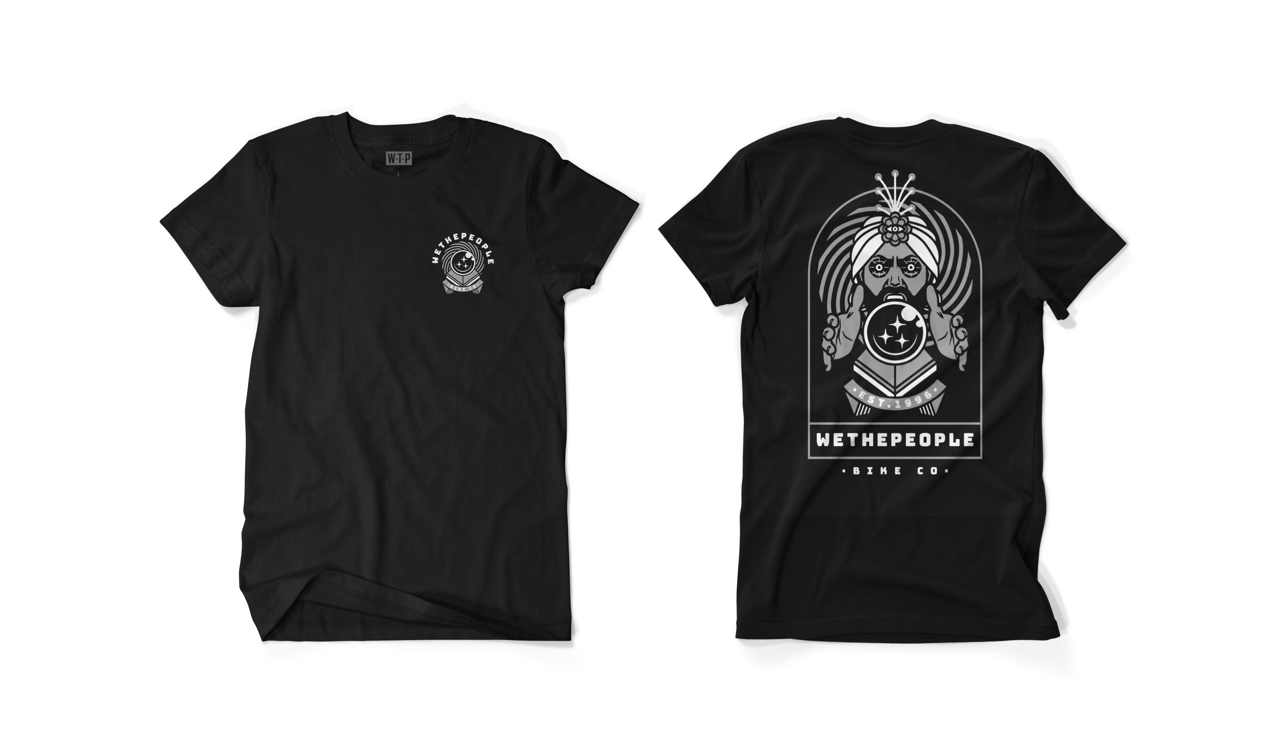 Wethepeople BMX Fortune Teller T-Shirt in schwarz
