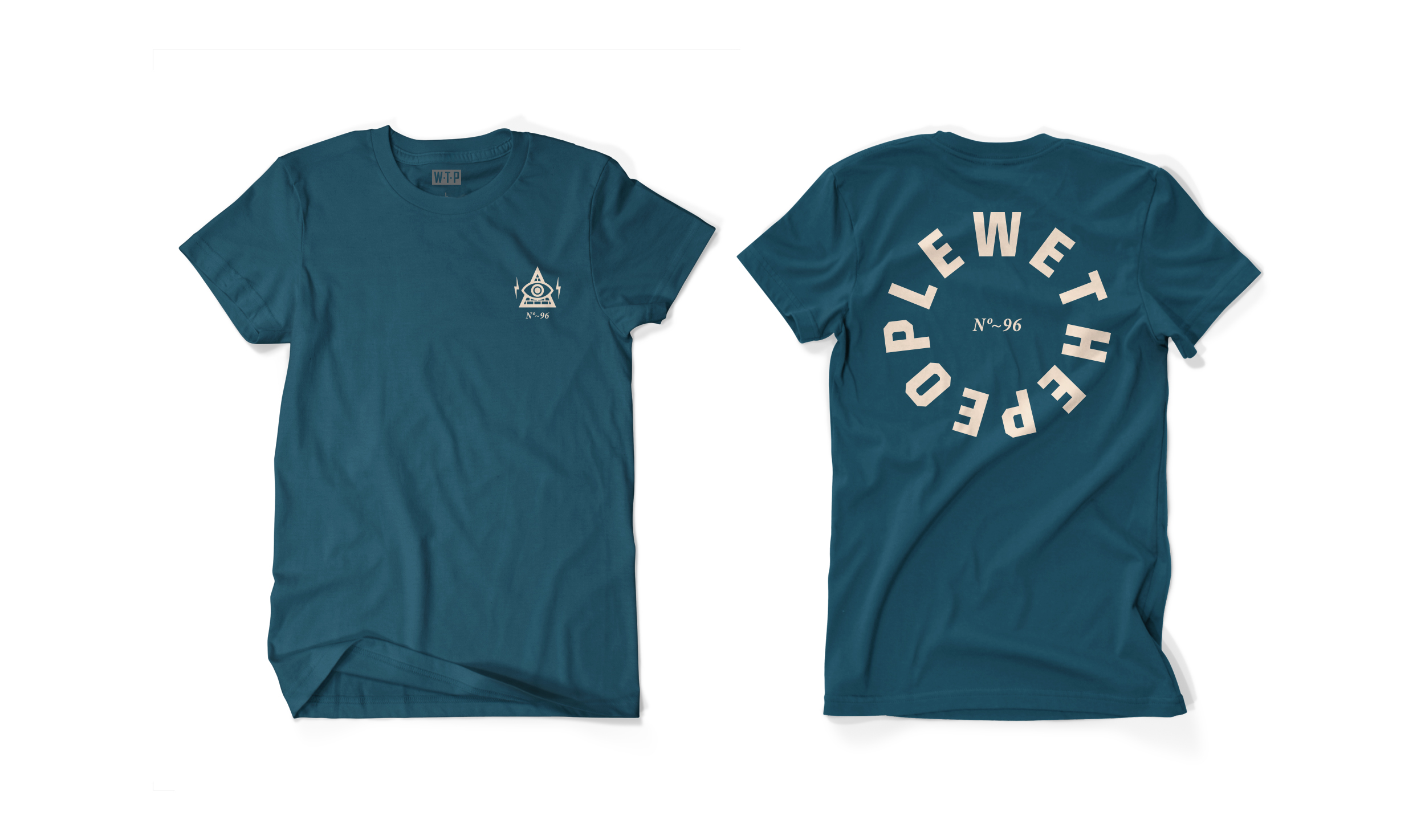 Wethepeople BMX Illuminati T-Shirt in blaugrün