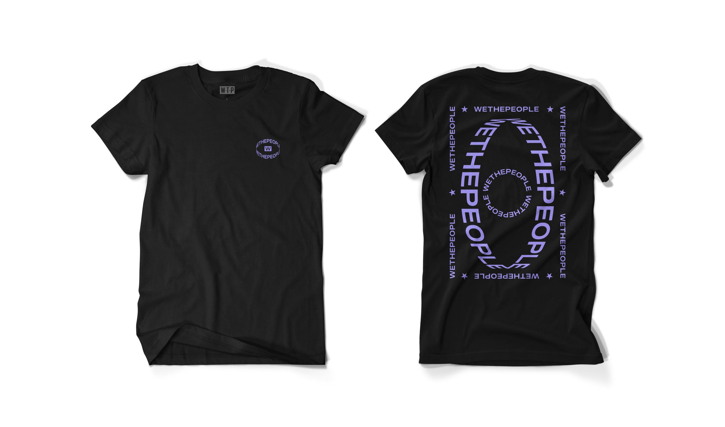 Wethepeople BMX Saturn T-Shirt in schwarz