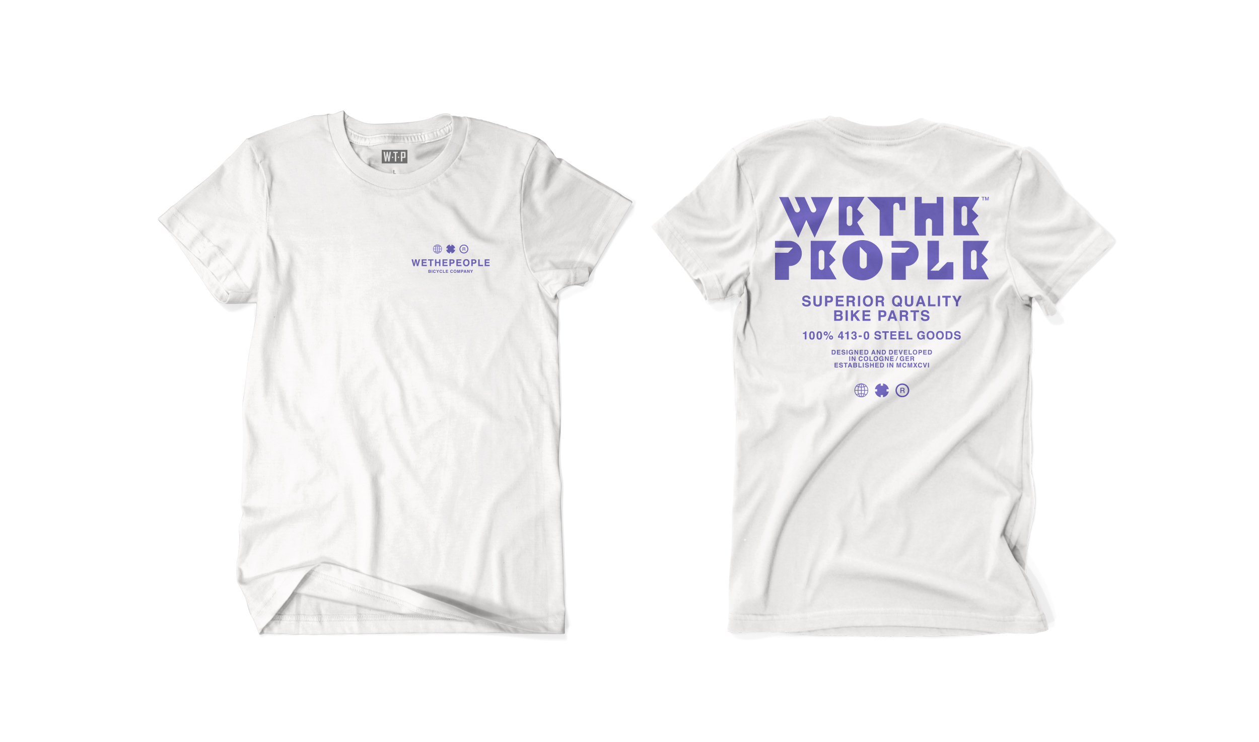 Wethepeople BMX SQB T-Shirt in weiß