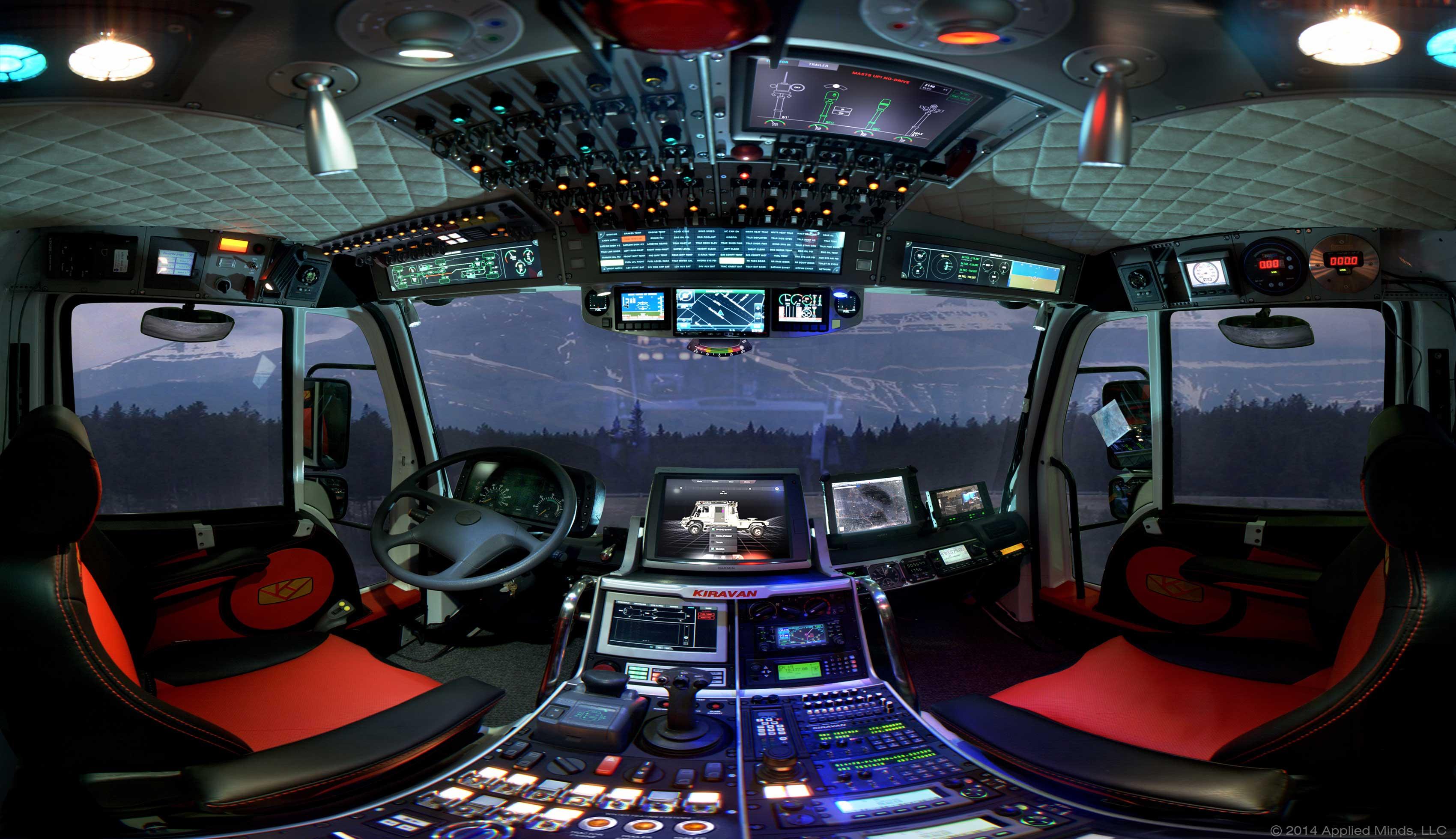 The cockpit interior