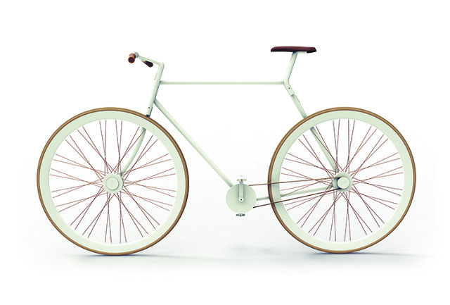 This is how the completed bike would look - note the forks are only one side of the frame.