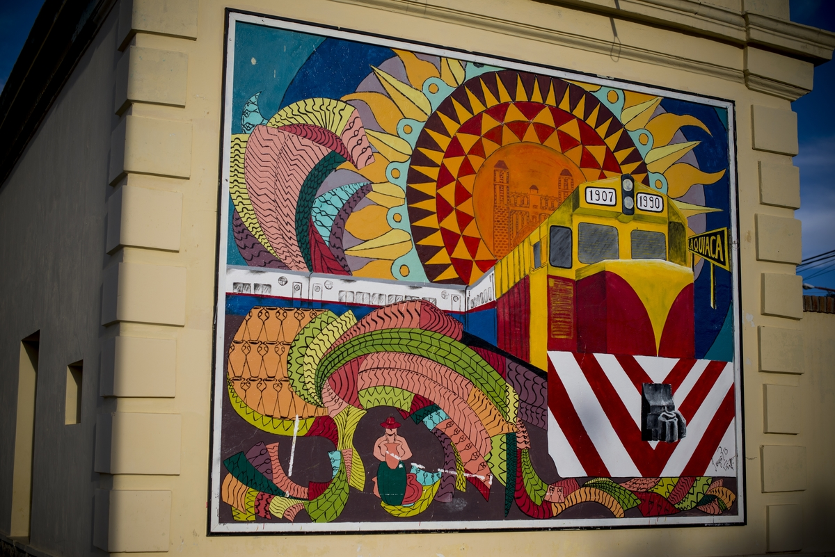 Wall mural, La Quiaca, Argentina, the start of our journey.