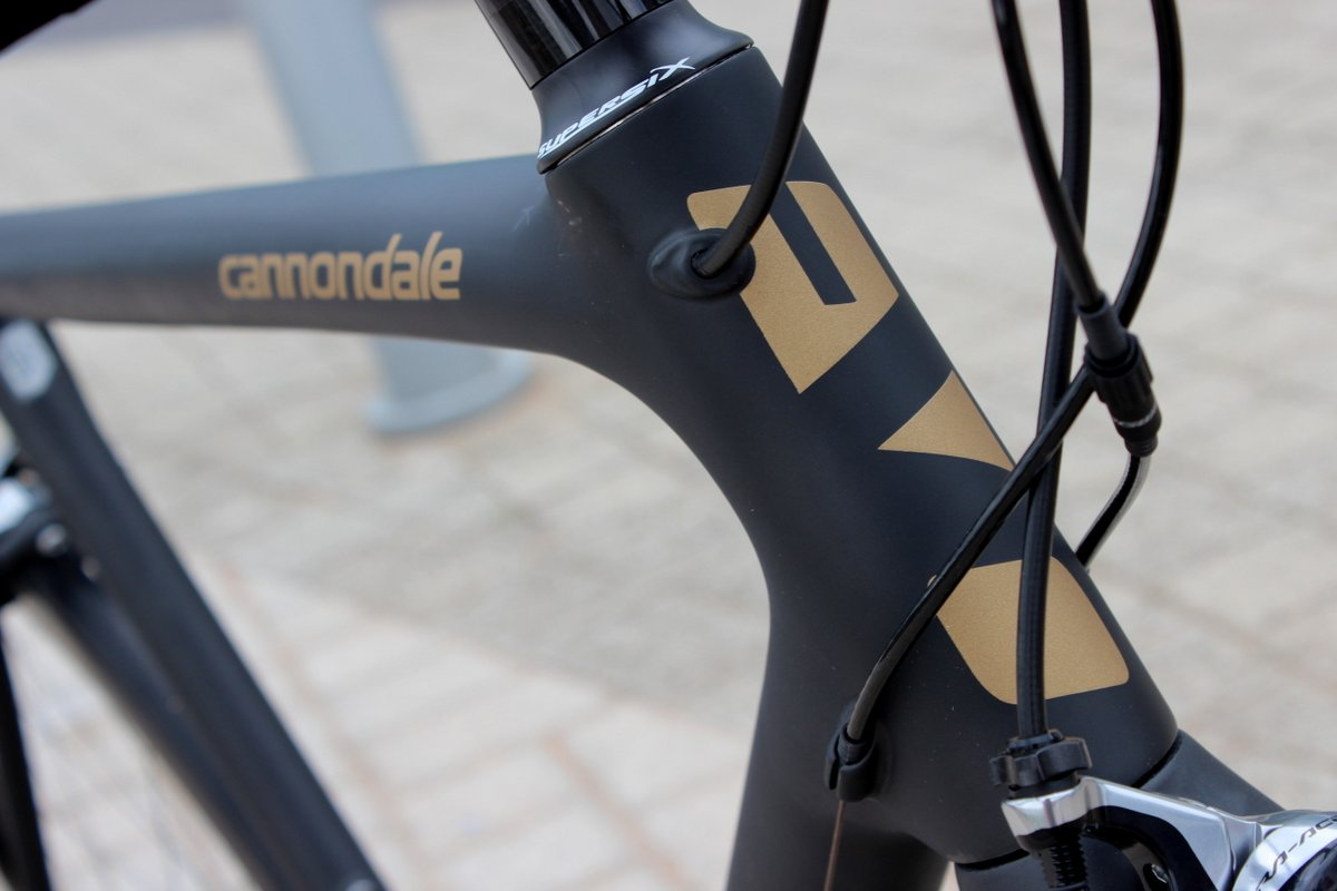 Cannondale SuperSix Evo Nano Black Inc Steuerrohr