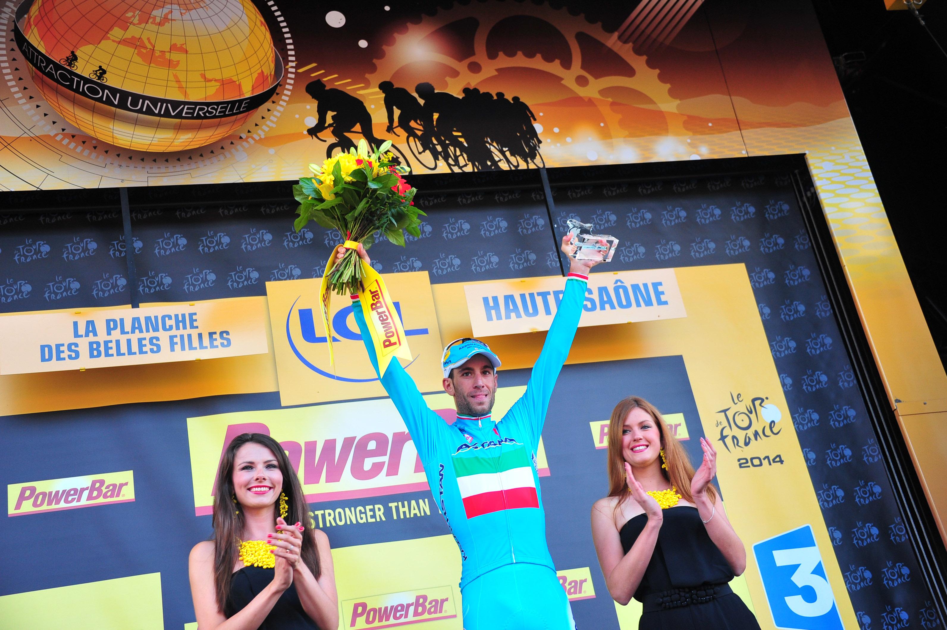Nibali, der gesamtsieger der 10. Etappe. (Foto: Sirotti)