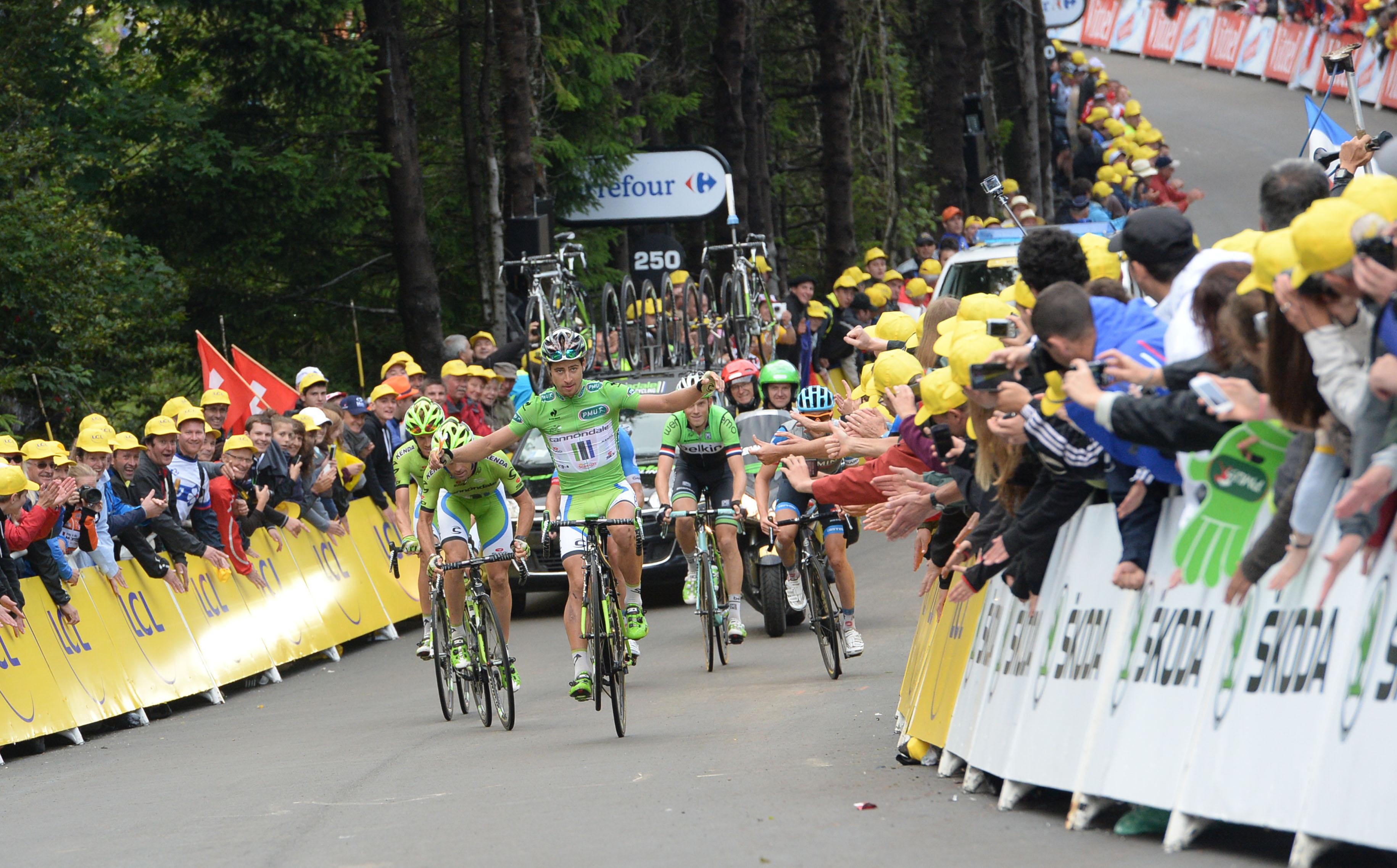 Peter Sagan während der 10. Etappe der Tour. (Foto: Sirotti)
