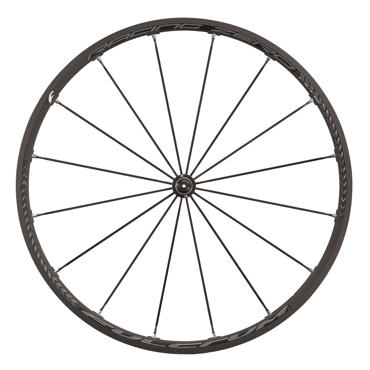 Das vordere Rad des Racing Zero Nite-Laufradsatzes.