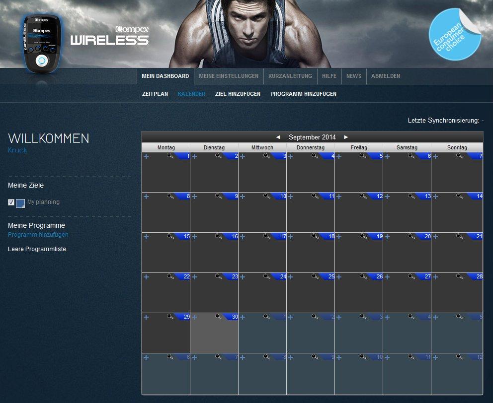 Im Kalender werden nach erfolgter Planung alle Trainingszeiten angezeigt.