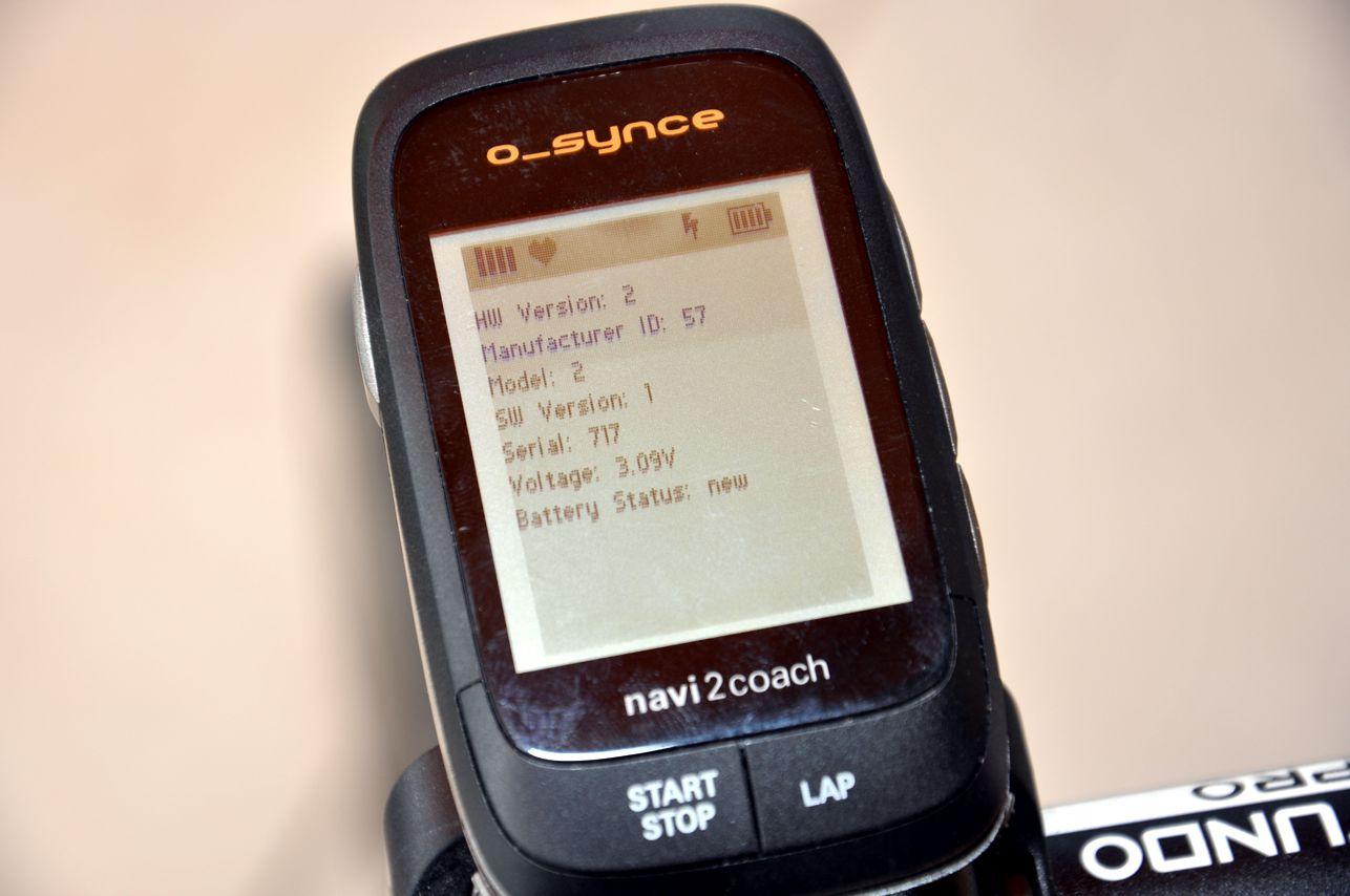 Anzeige der Statusdaten des Powermeters nach gelungener Verbindung.