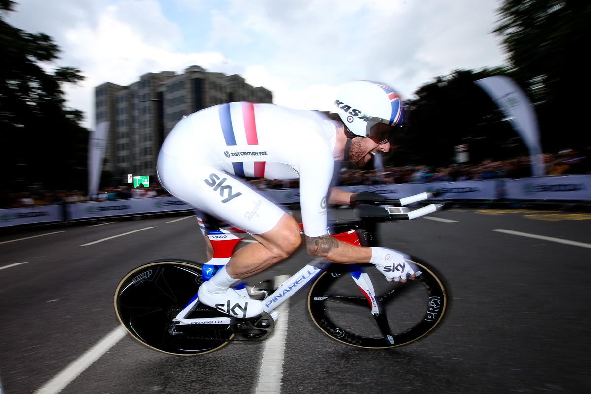 Bradley Wiggins kam bei seinem Sieg bei Olympia in London auf eine Durchschnittsgeschwindigkeit von 53,6km/h. (Foto: Charlie Forgham-Bailey/SWPix.com)