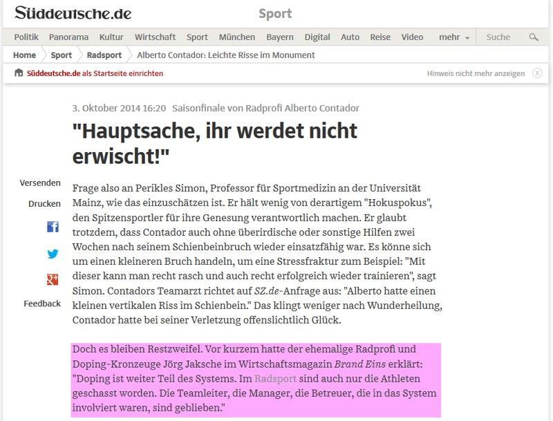 SZ-Redakteur Johannes Knuth hat Restzweifel - bleibt uns aber eine Erklärung schuldig. (Screenshot der SZ vom 03.10.2014)SZ-Redakteur Johannes Knuth hat Restzweifel - bleibt uns aber eine Erklärung schuldig. (Screenshot der SZ vom 03.10.2014)