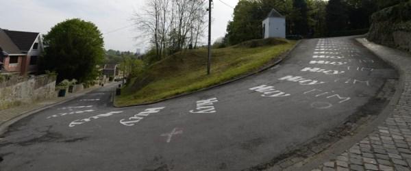 Die Mur de Huy ist kurz, extrem steil und nciht gerade mit Parkhausasphalt ausgestattet. (Foto: Sirotti)